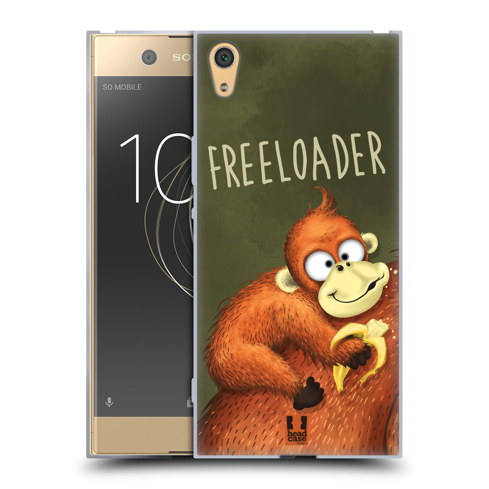 Silikonové pouzdro na mobil Sony Xperia XA1 Ultra - Head Case - Opičák Freeloader