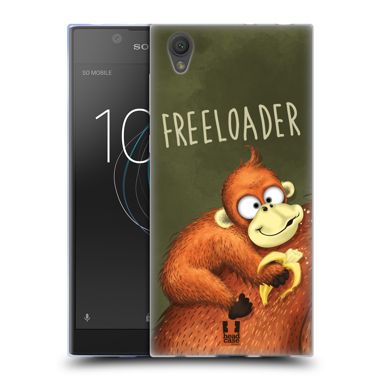 Silikonové pouzdro na mobil Sony Xperia L1 - Head Case - Opičák Freeloader
