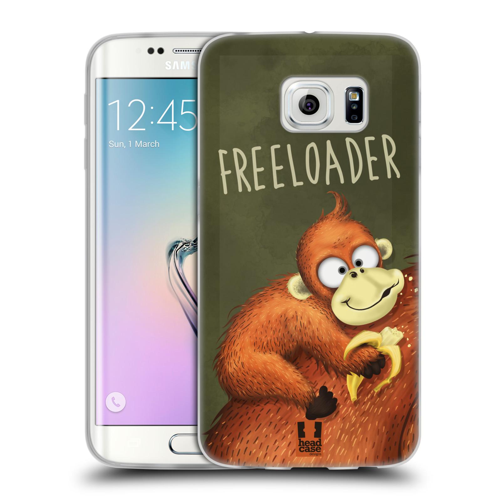 Silikonové pouzdro na mobil Samsung Galaxy S6 Edge HEAD CASE Opičák Freeloader (Silikonový kryt či obal na mobilní telefon Samsung Galaxy S6 Edge SM-G925F)
