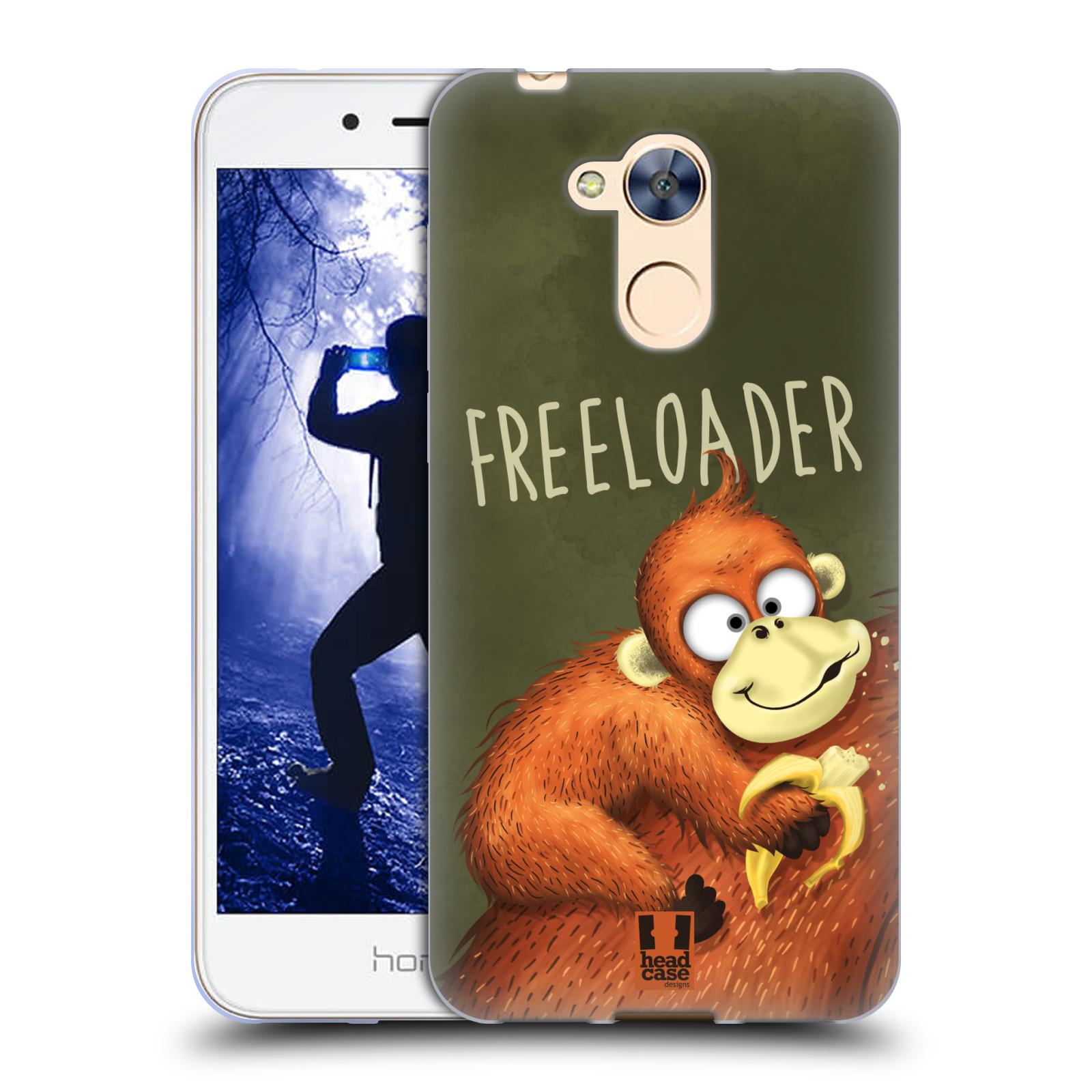 Silikonové pouzdro na mobil Honor 6A - Head Case - Opičák Freeloader