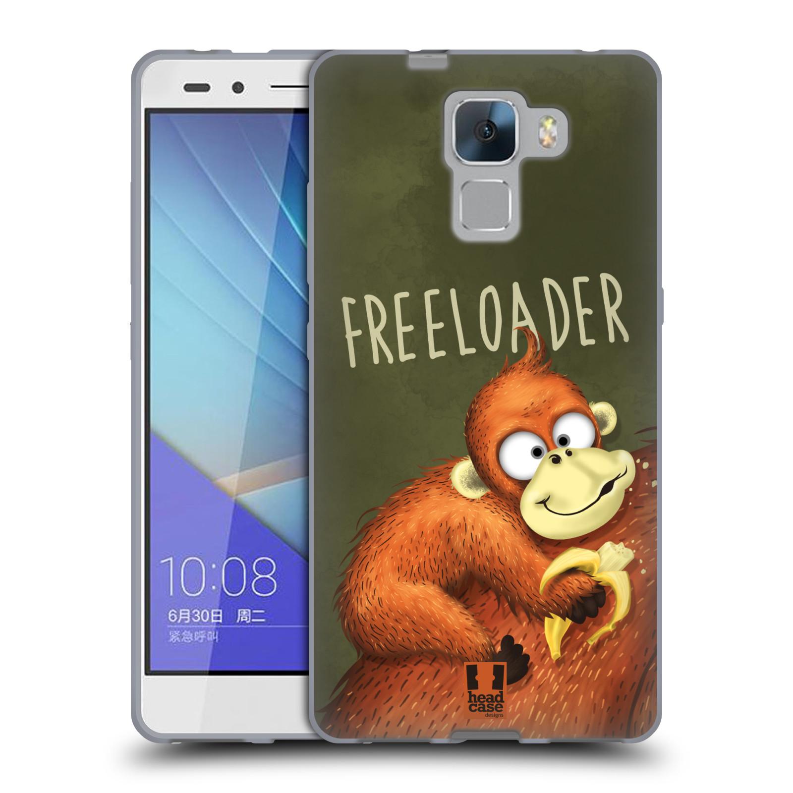 Silikonové pouzdro na mobil Honor 7 HEAD CASE Opičák Freeloader