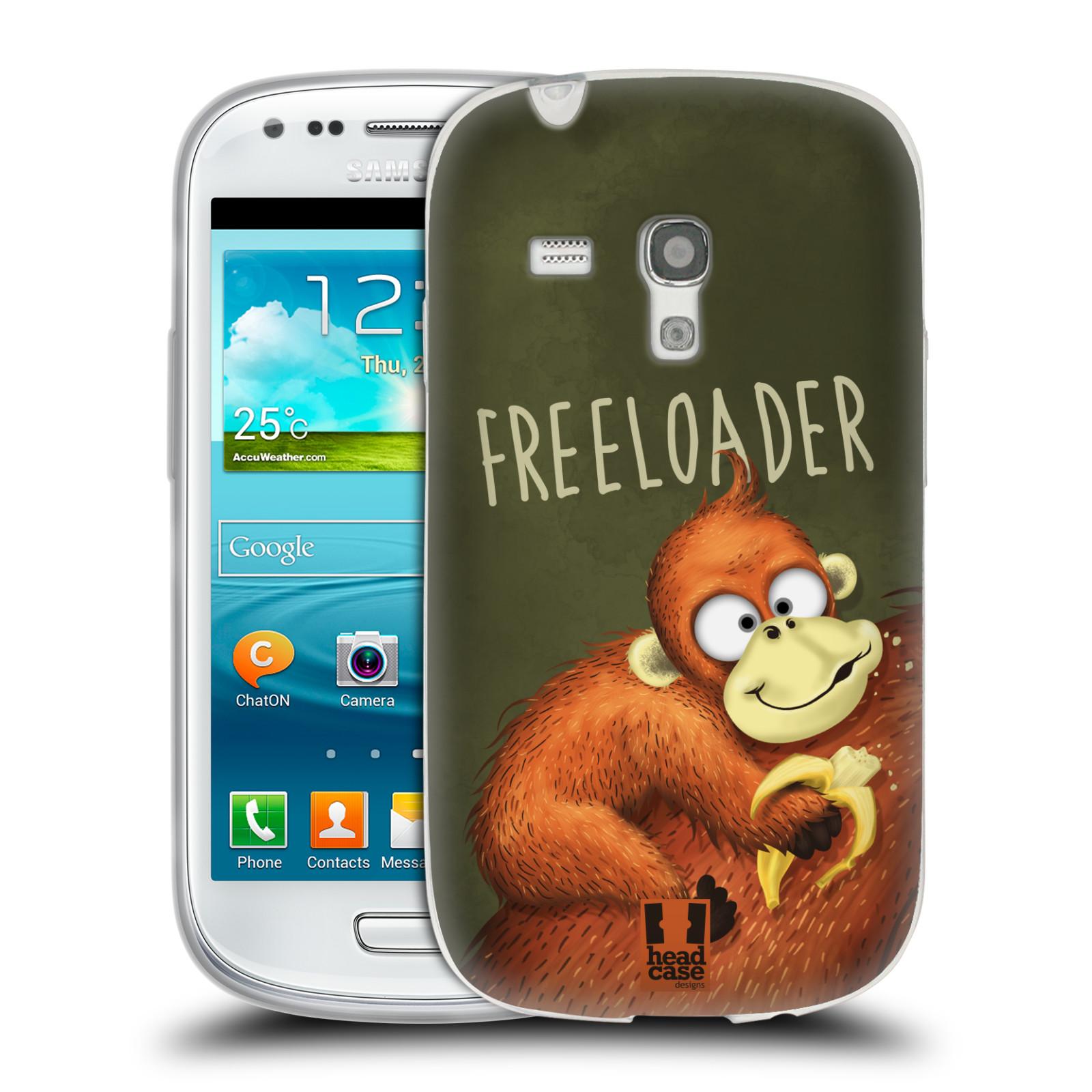 Silikonové pouzdro na mobil Samsung Galaxy S III Mini HEAD CASE Opičák Freeloader (Silikonový kryt či obal na mobilní telefon Samsung Galaxy S III Mini GT-i8190)