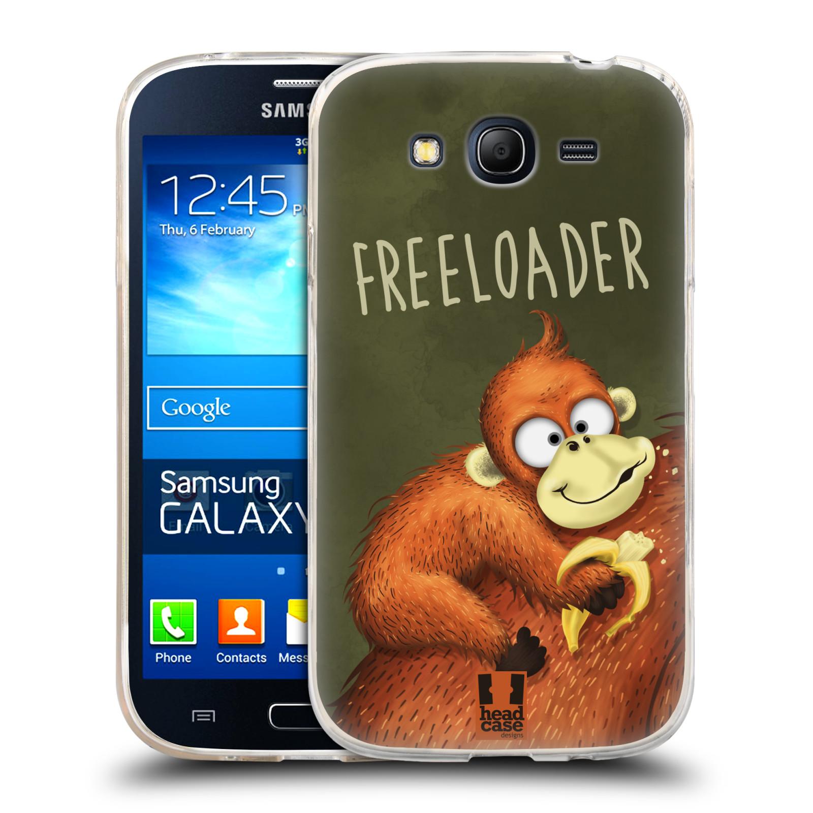 Silikonové pouzdro na mobil Samsung Galaxy Grand Neo Plus HEAD CASE Opičák Freeloader