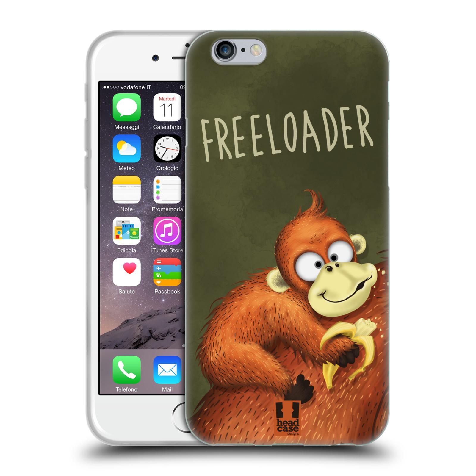 Silikonové pouzdro na mobil Apple iPhone 6 HEAD CASE Opičák Freeloader