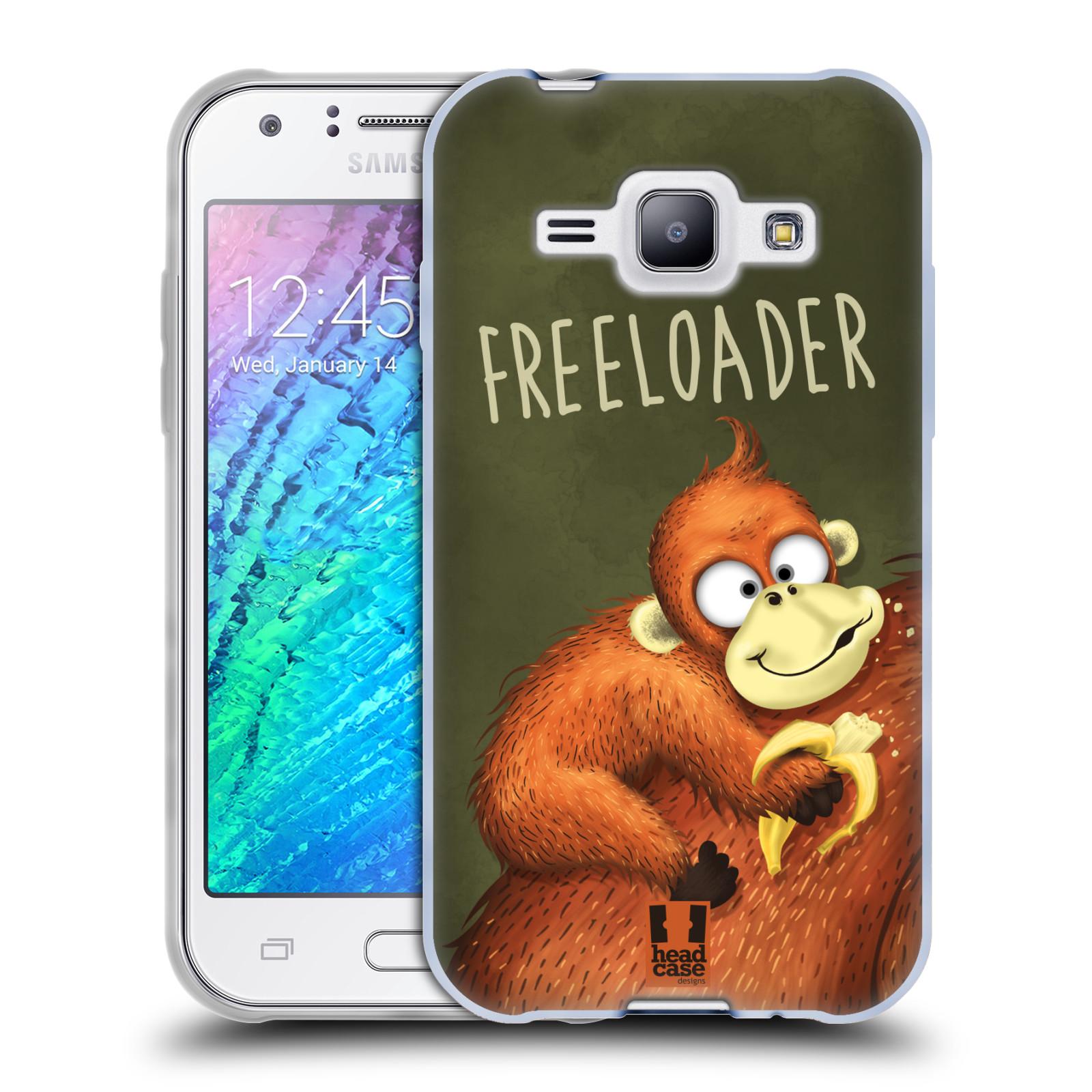 Silikonové pouzdro na mobil Samsung Galaxy J1 HEAD CASE Opičák Freeloader (Silikonový kryt či obal na mobilní telefon Samsung Galaxy J1 a J1 Duos)