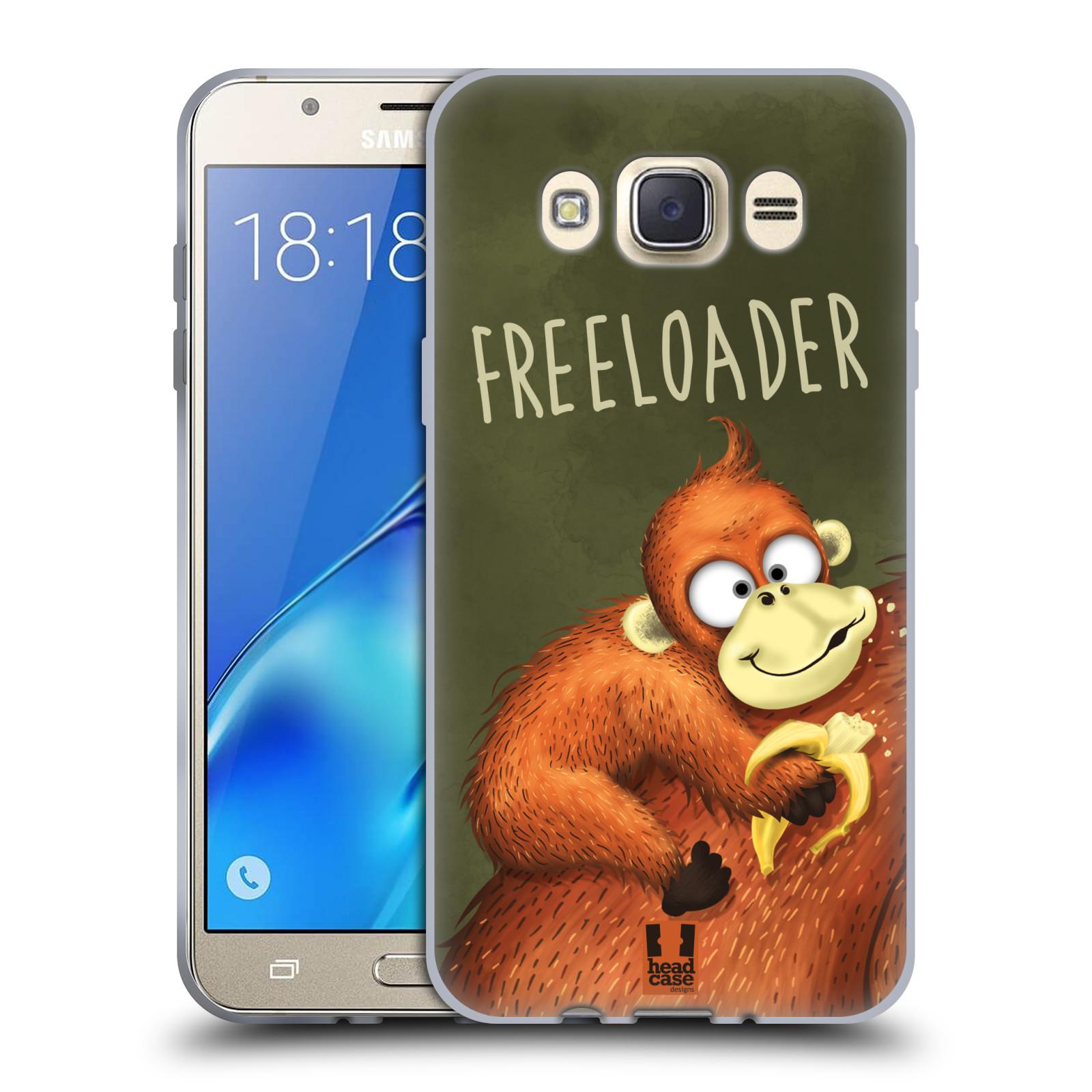 Silikonové pouzdro na mobil Samsung Galaxy J7 (2016) HEAD CASE Opičák Freeloader