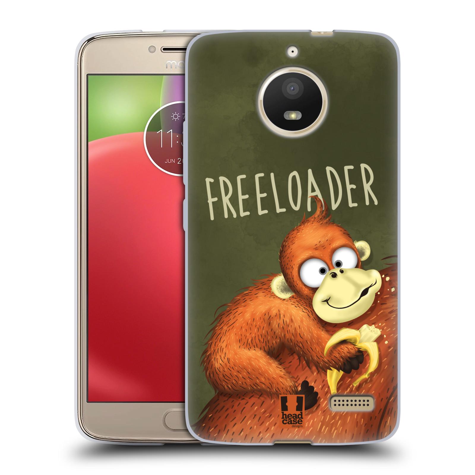 Silikonové pouzdro na mobil Lenovo Moto E4 - Head Case - Opičák Freeloader