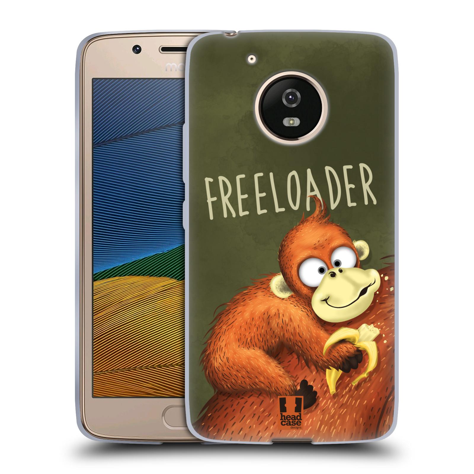 Silikonové pouzdro na mobil Lenovo Moto G5 - Head Case Opičák Freeloader