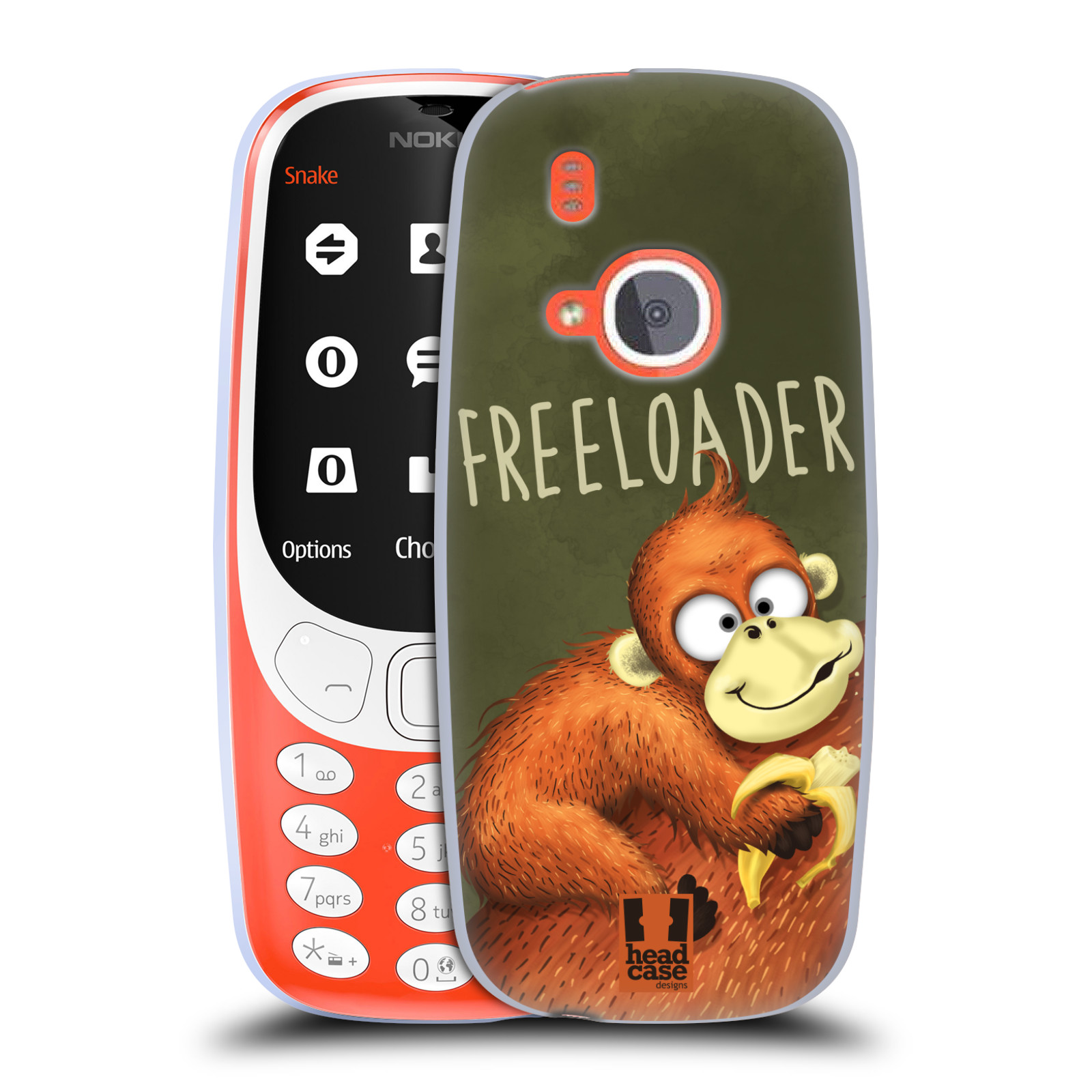 Silikonové pouzdro na mobil Nokia 3310 - Head Case - Opičák Freeloader