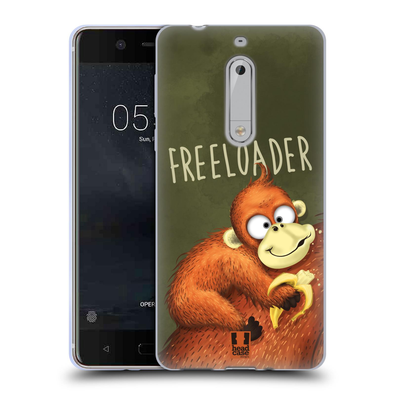 Silikonové pouzdro na mobil Nokia 5 Head Case - Opičák Freeloader
