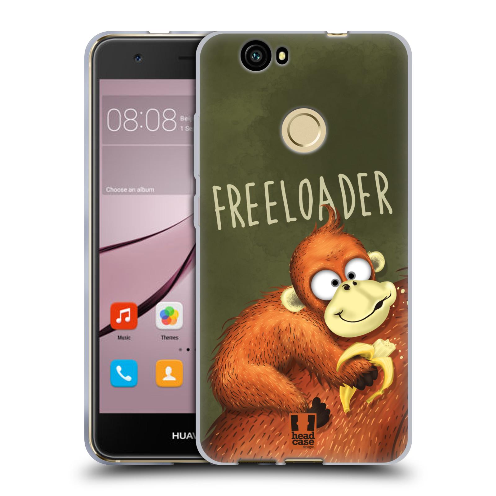 Silikonové pouzdro na mobil Huawei Nova - Head Case - Opičák Freeloader
