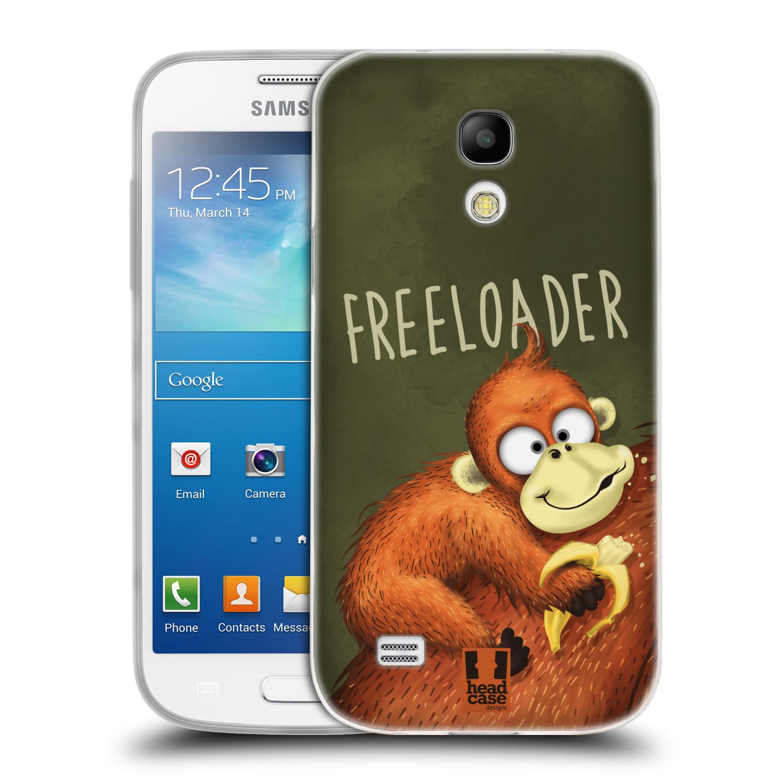Silikonové pouzdro na mobil Samsung Galaxy S4 Mini HEAD CASE Opičák Freeloader (Silikonový kryt či obal na mobilní telefon Samsung Galaxy S4 Mini GT-i9195 / i9190)