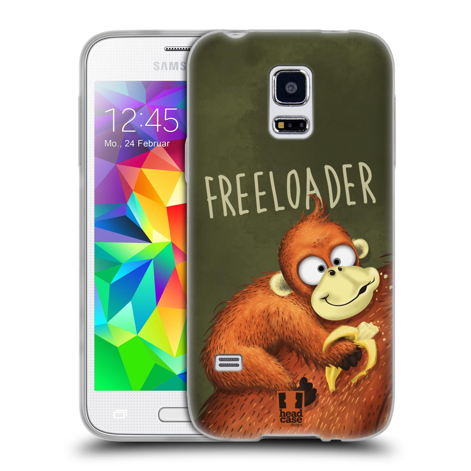 Silikonové pouzdro na mobil Samsung Galaxy S5 Mini HEAD CASE Opičák Freeloader (Silikonový kryt či obal na mobilní telefon Samsung Galaxy S5 Mini SM-G800F)