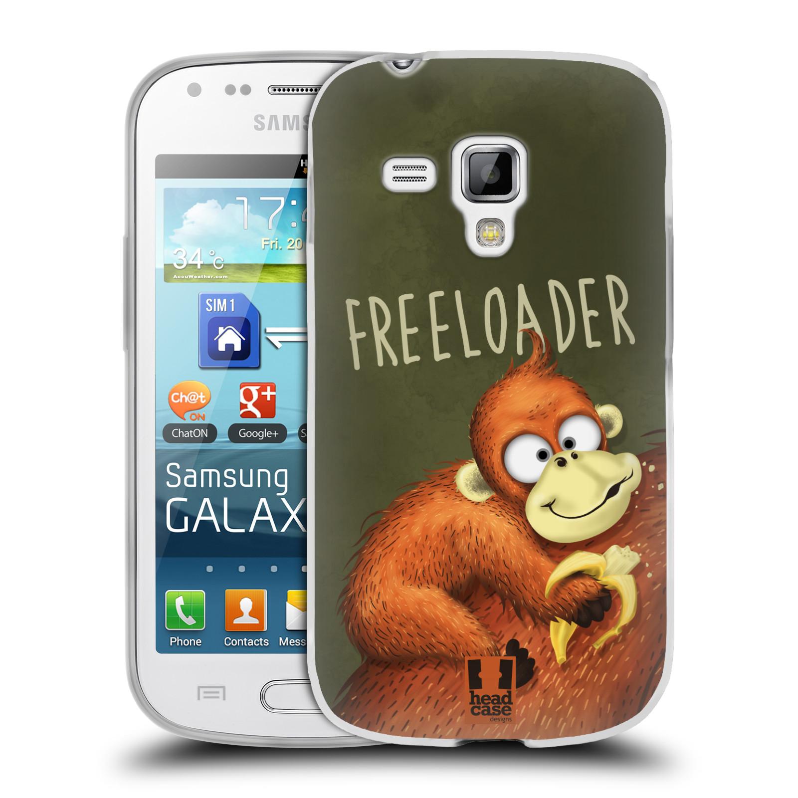 Silikonové pouzdro na mobil Samsung Galaxy S Duos HEAD CASE Opičák Freeloader (Silikonový kryt či obal na mobilní telefon Samsung Galaxy S Duos GT-S7562)