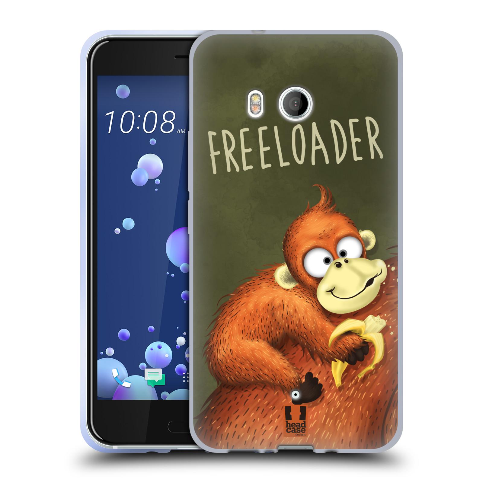Silikonové pouzdro na mobil HTC U11 - Head Case - Opičák Freeloader