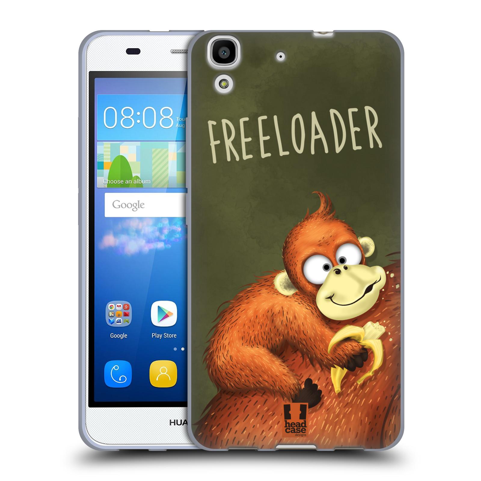 Silikonové pouzdro na mobil Huawei Y6 HEAD CASE Opičák Freeloader
