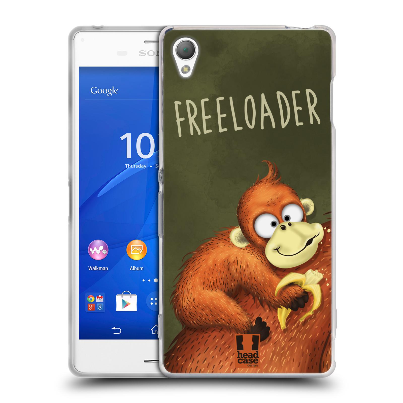Silikonové pouzdro na mobil Sony Xperia Z3 D6603 HEAD CASE Opičák Freeloader