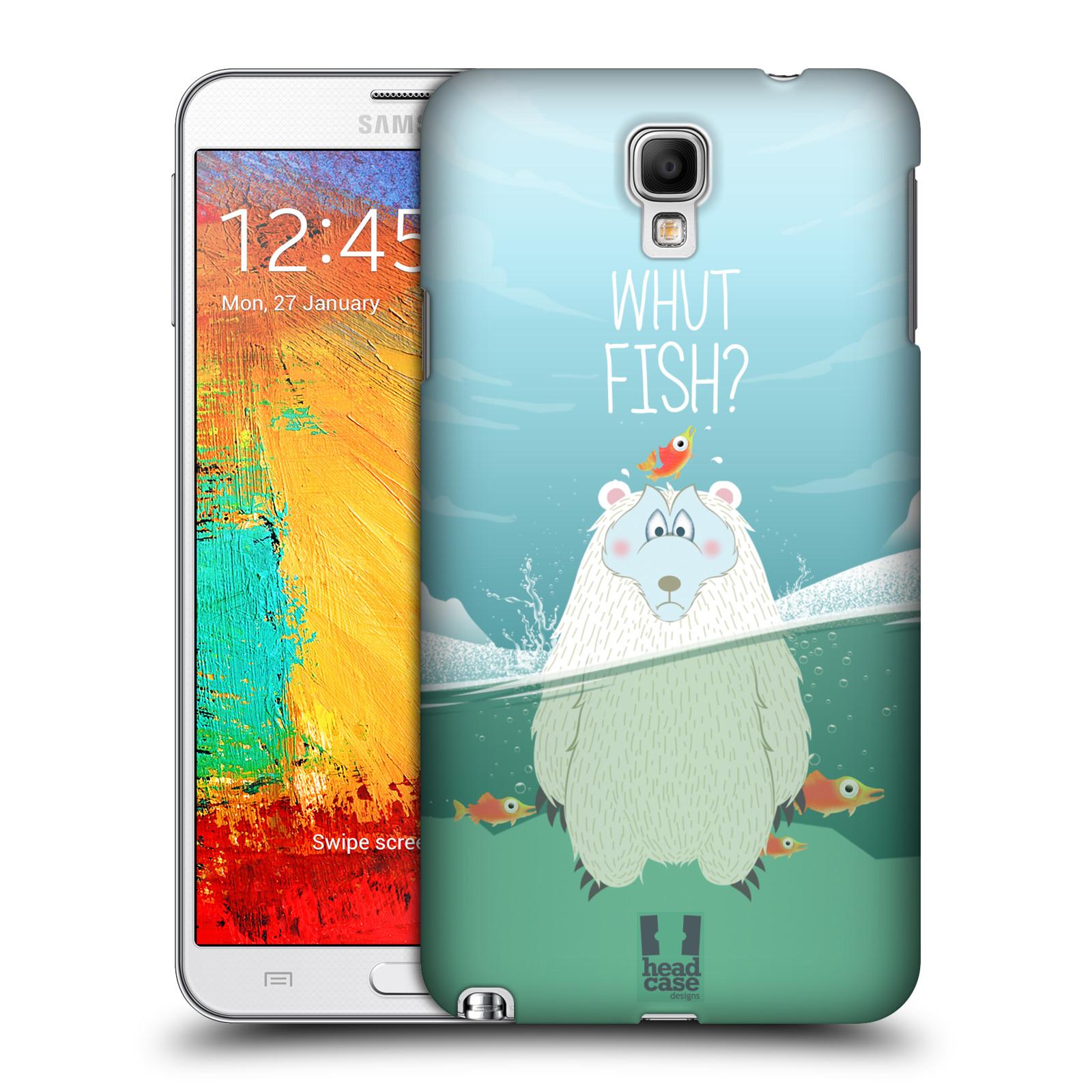 Plastové pouzdro na mobil Samsung Galaxy Note 3 Neo HEAD CASE Medvěd Whut Fish? (Kryt či obal na mobilní telefon Samsung Galaxy Note 3 Neo SM-N7505)