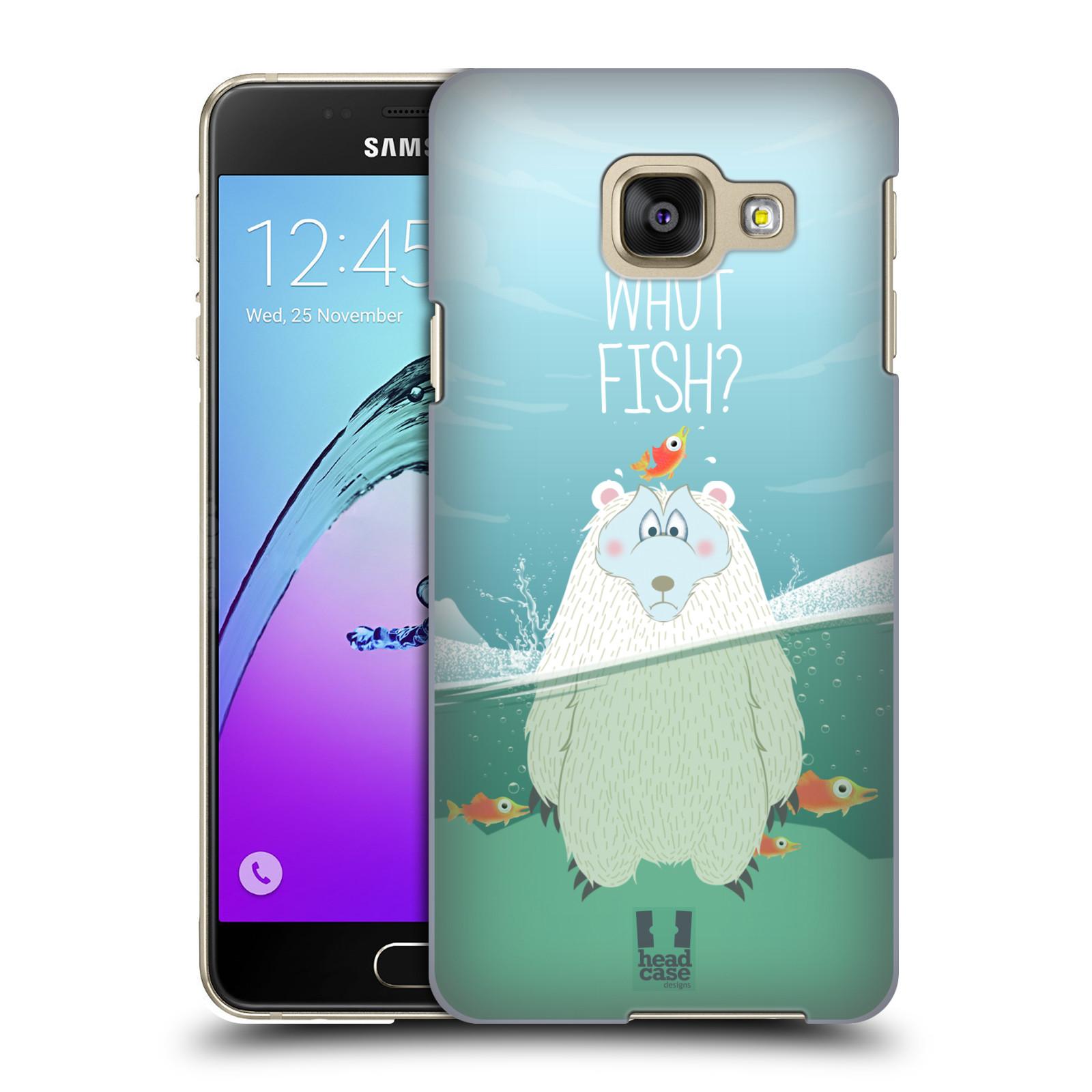 Plastové pouzdro na mobil Samsung Galaxy A3 (2016) HEAD CASE Medvěd Whut Fish?