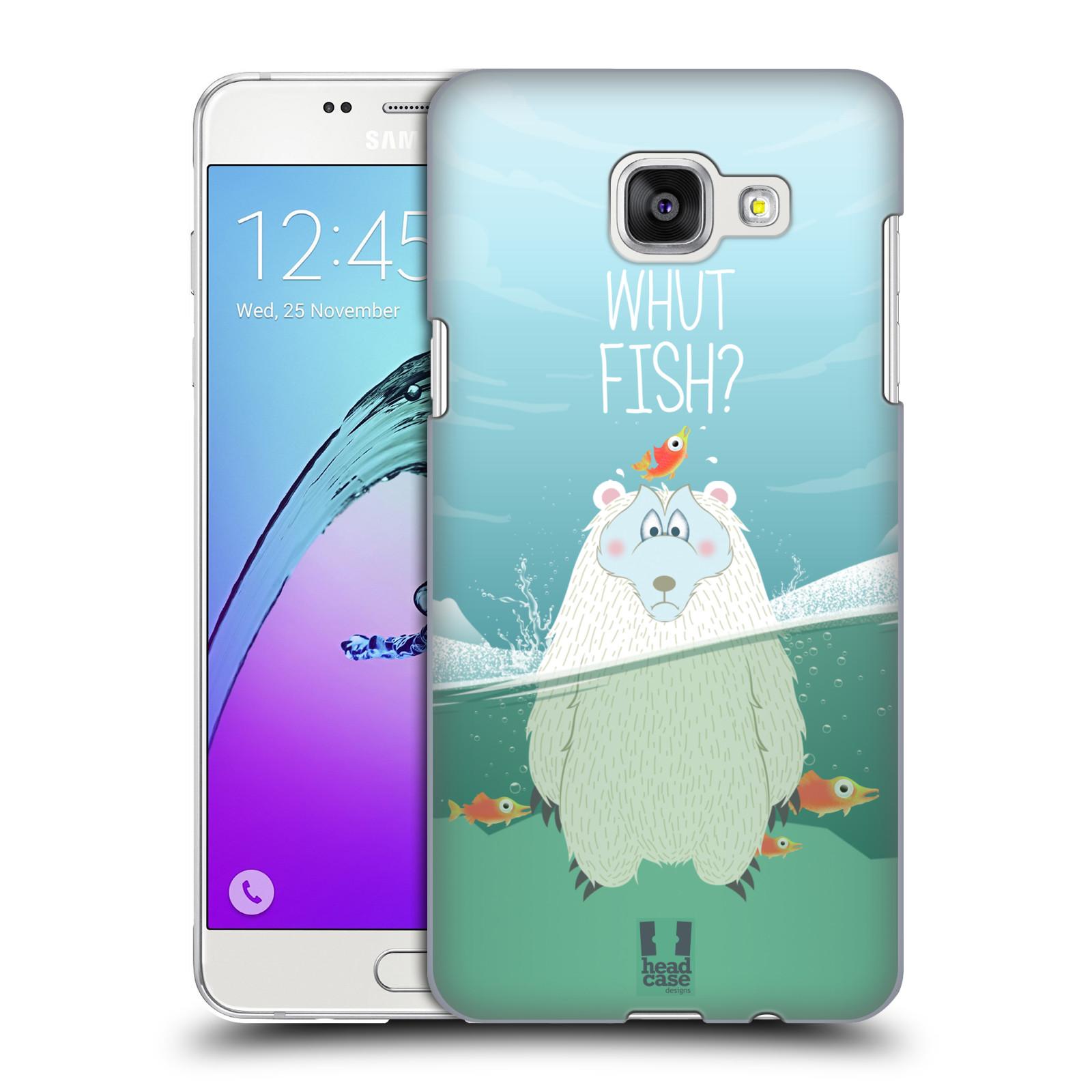 Plastové pouzdro na mobil Samsung Galaxy A5 (2016) HEAD CASE Medvěd Whut Fish?