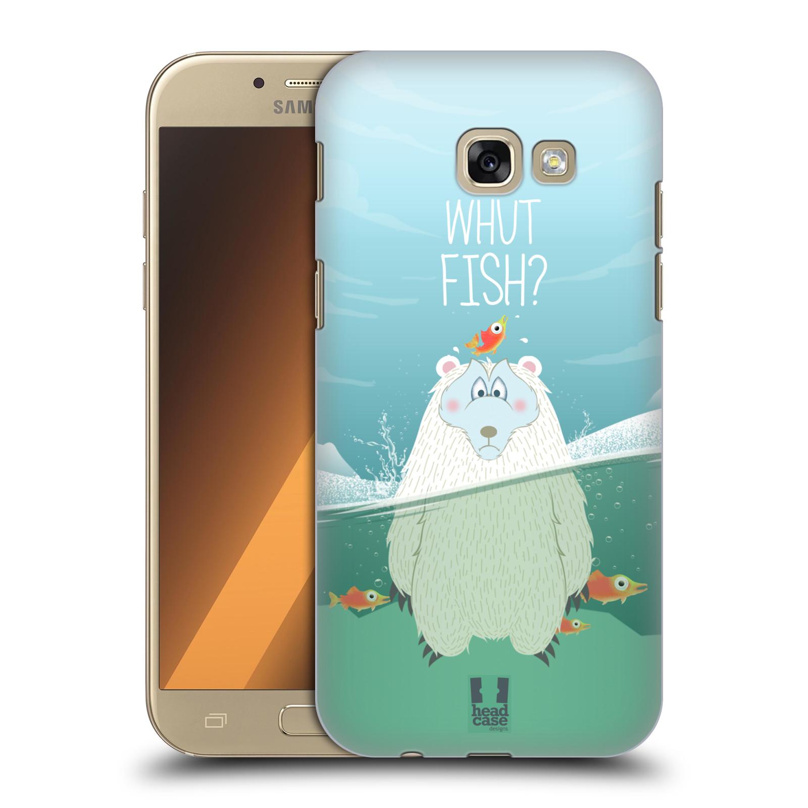 Plastové pouzdro na mobil Samsung Galaxy A5 (2017) HEAD CASE Medvěd Whut Fish?