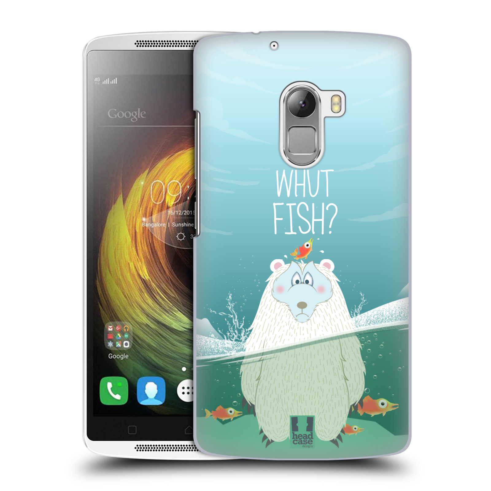 Plastové pouzdro na mobil Lenovo A7010 HEAD CASE Medvěd Whut Fish?