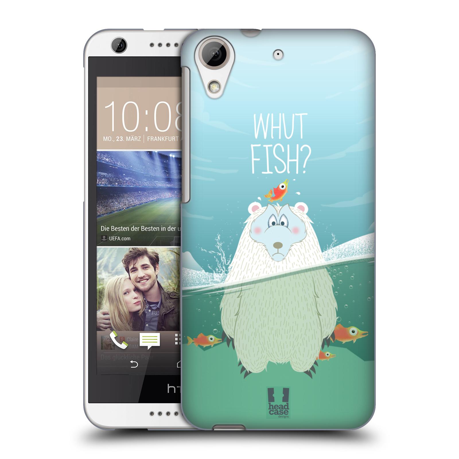 Plastové pouzdro na mobil HTC Desire 626 / 626G HEAD CASE Medvěd Whut Fish? (Kryt či obal na mobilní telefon HTC Desire 626G Dual SIM a HTC Desire 626)