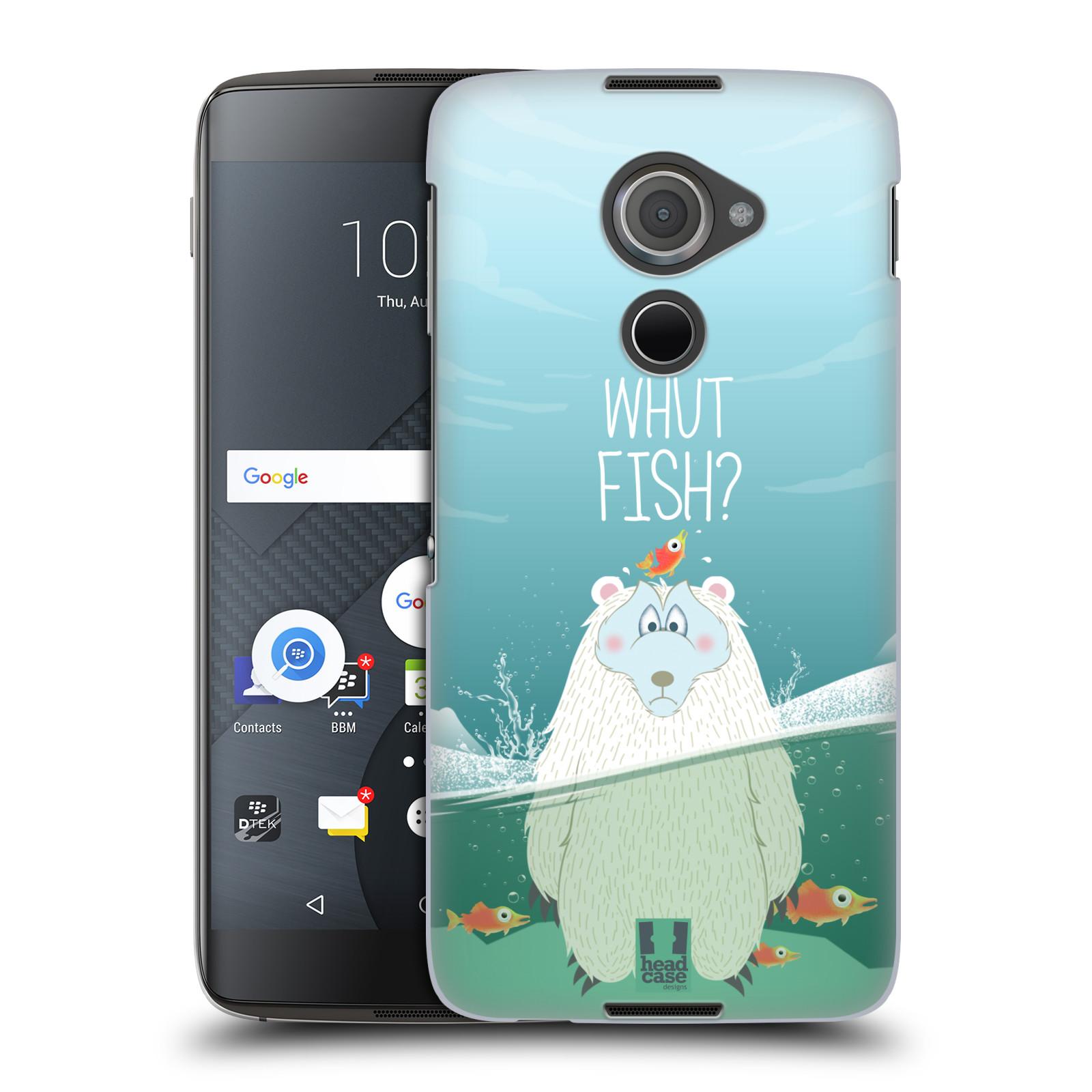 Plastové pouzdro na mobil Blackberry DTEK60 (Argon) - Head Case Medvěd Whut Fish?