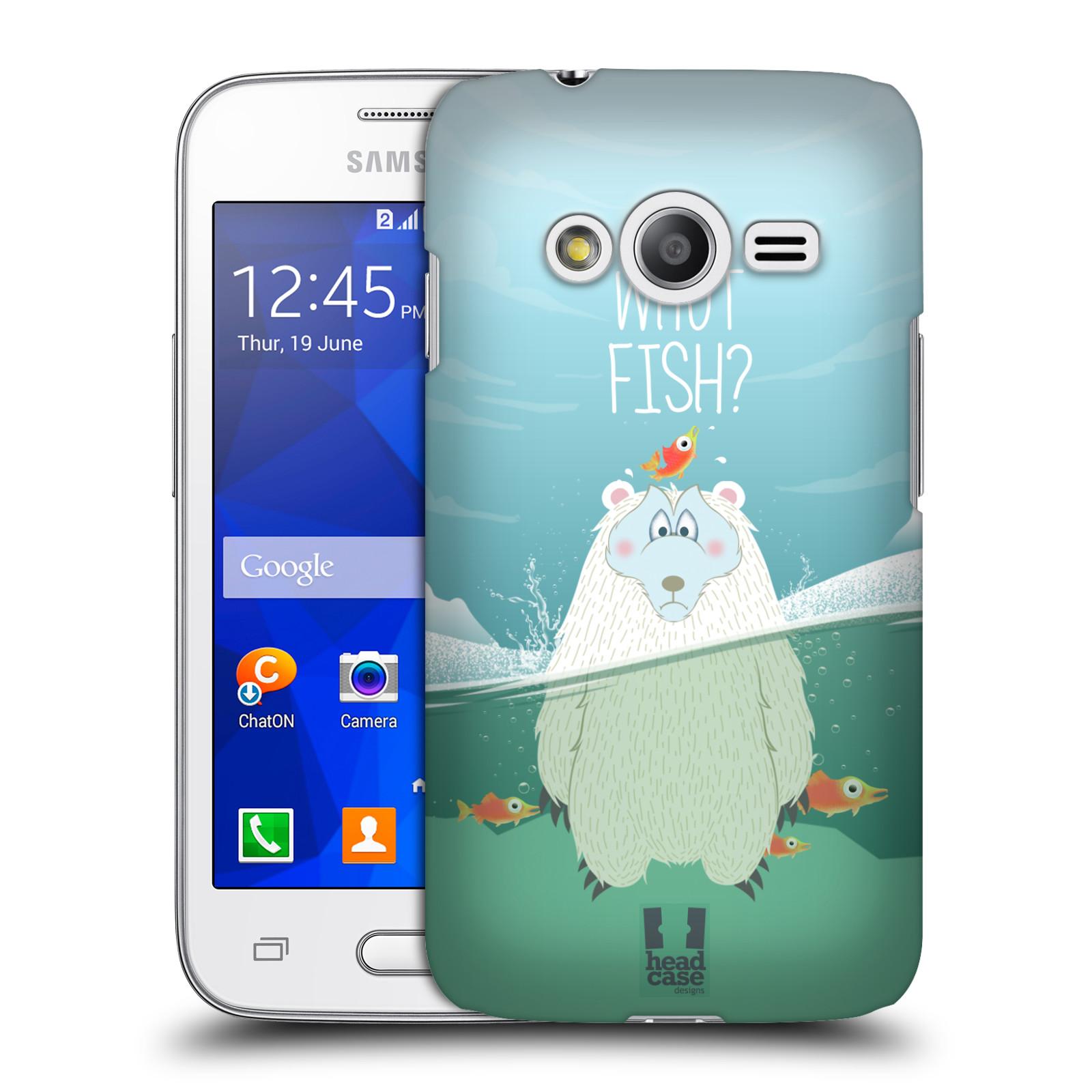 Plastové pouzdro na mobil Samsung Galaxy Trend 2 Lite HEAD CASE Medvěd Whut Fish? (Kryt či obal na mobilní telefon Samsung Galaxy Trend 2 Lite SM-G318)