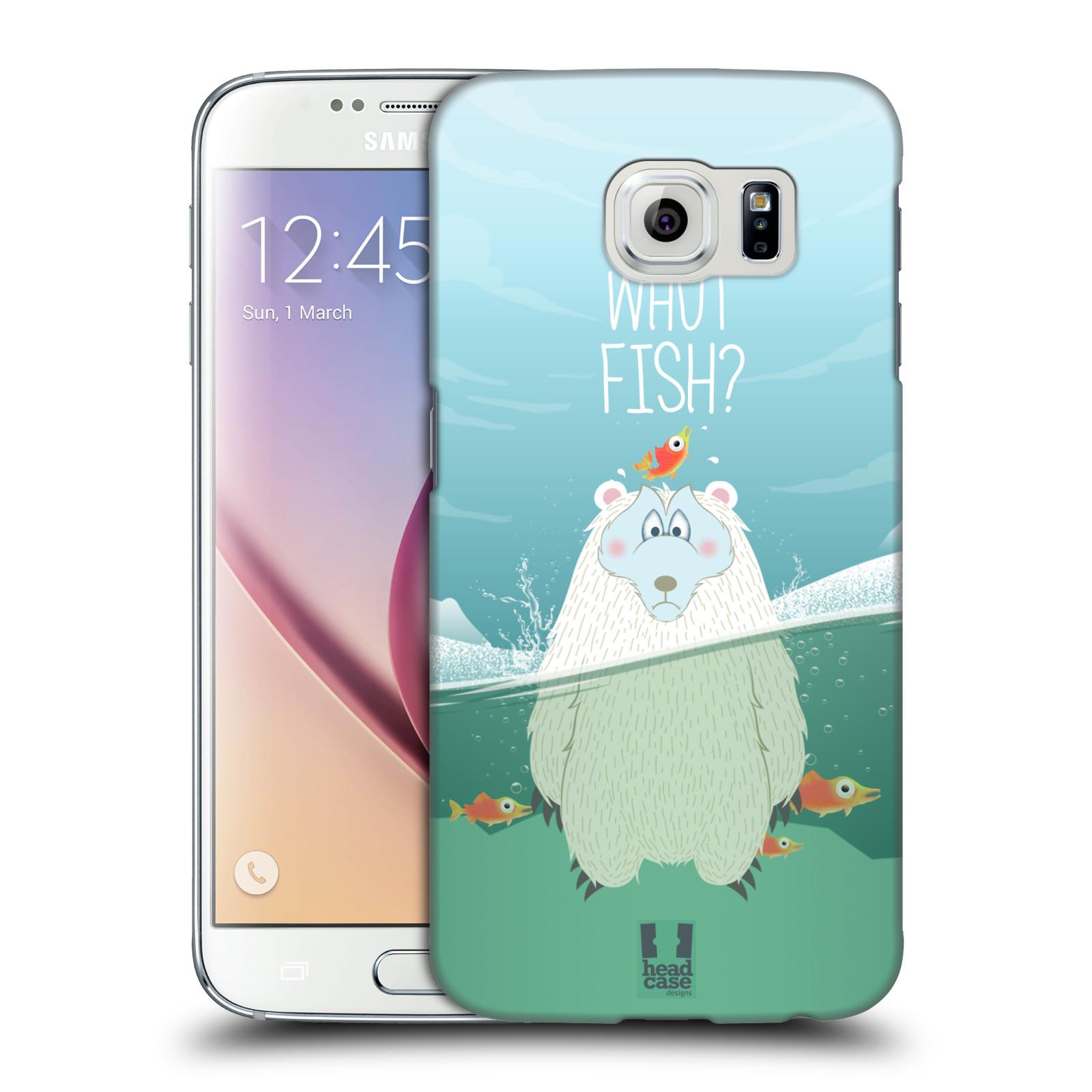 Plastové pouzdro na mobil Samsung Galaxy S6 HEAD CASE Medvěd Whut Fish?