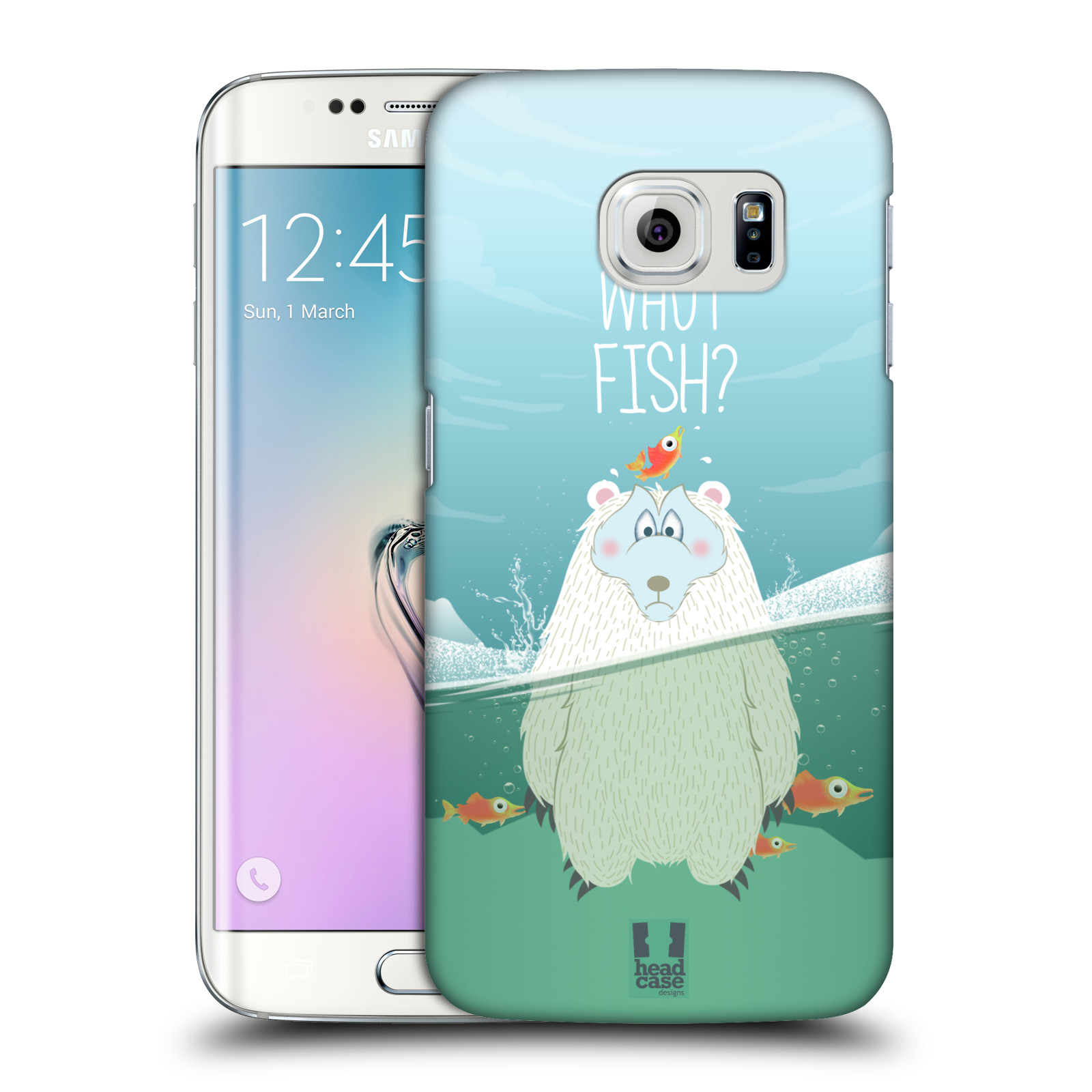 Plastové pouzdro na mobil Samsung Galaxy S6 Edge HEAD CASE Medvěd Whut Fish?