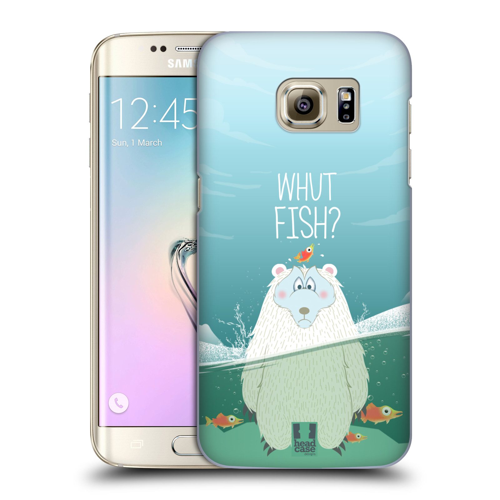 Plastové pouzdro na mobil Samsung Galaxy S7 Edge HEAD CASE Medvěd Whut Fish?