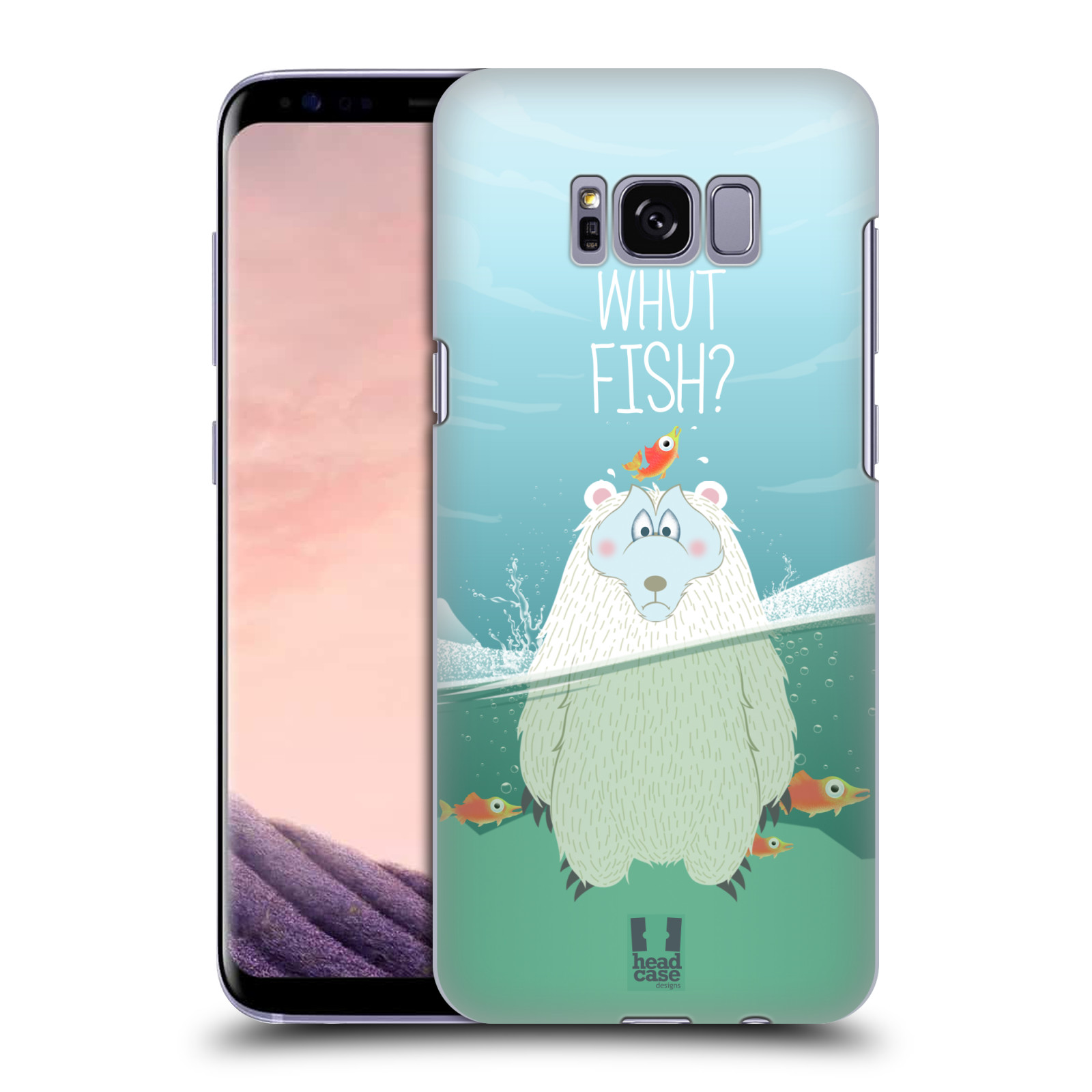 Plastové pouzdro na mobil Samsung Galaxy S8 Head Case Medvěd Whut Fish?