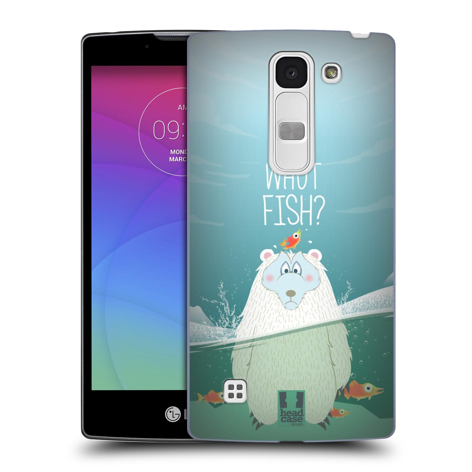 Plastové pouzdro na mobil LG Spirit LTE HEAD CASE Medvěd Whut Fish? (Kryt či obal na mobilní telefon LG Spirit H420 a LG Spirit LTE H440N)