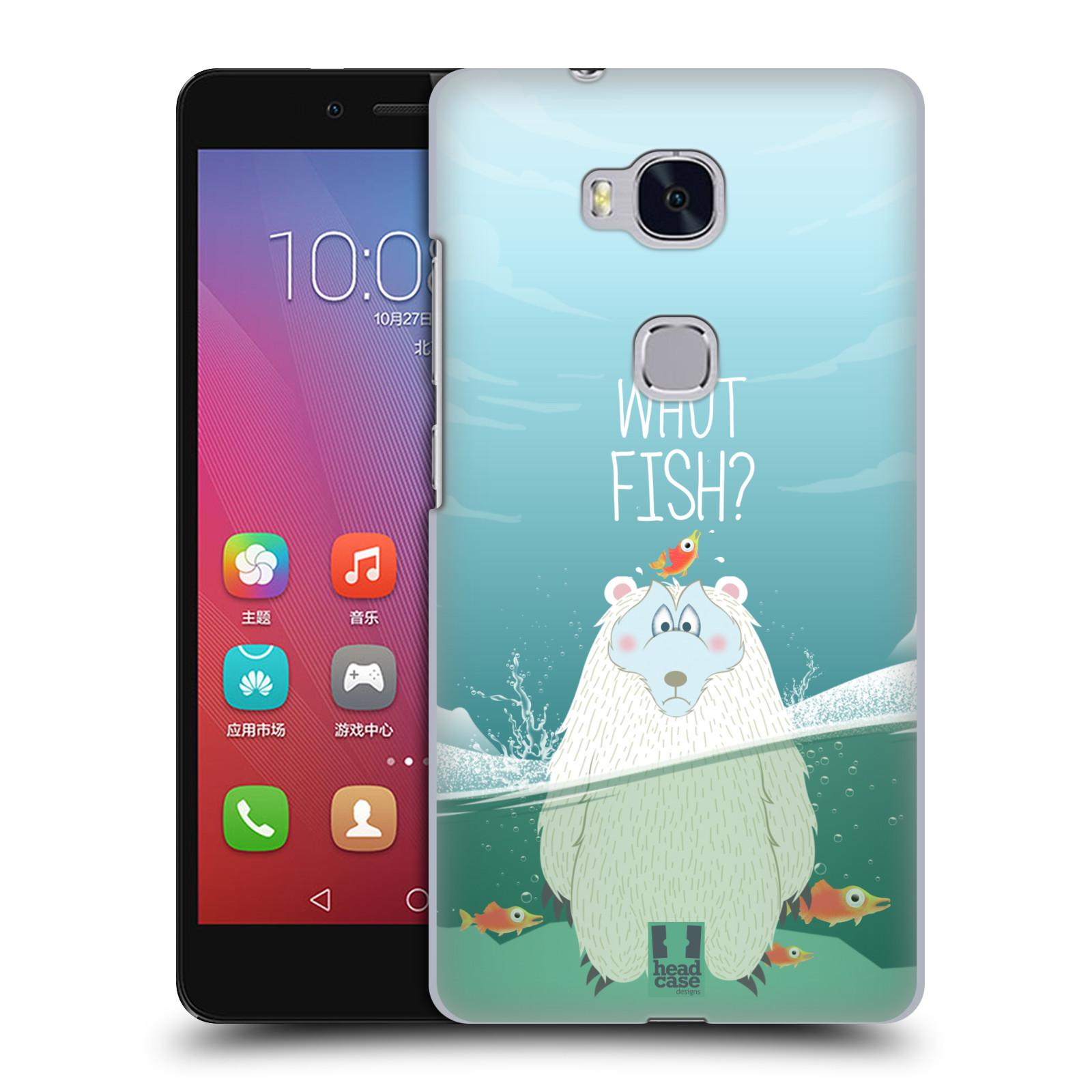 Plastové pouzdro na mobil Honor 5X HEAD CASE Medvěd Whut Fish?