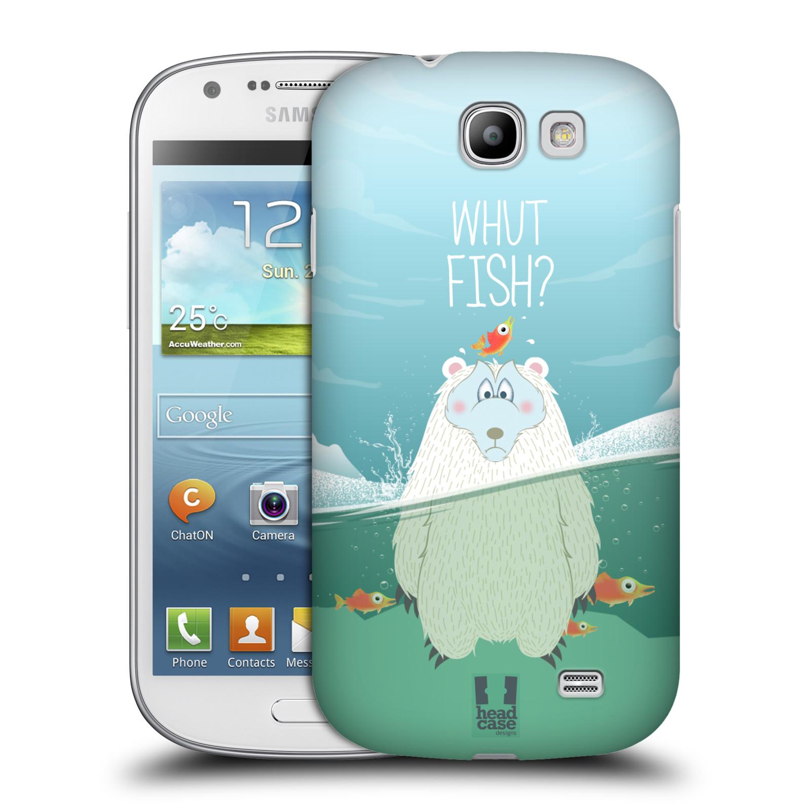 Plastové pouzdro na mobil Samsung Galaxy Express HEAD CASE Medvěd Whut Fish? (Kryt či obal na mobilní telefon Samsung Galaxy Express GT-i8730)
