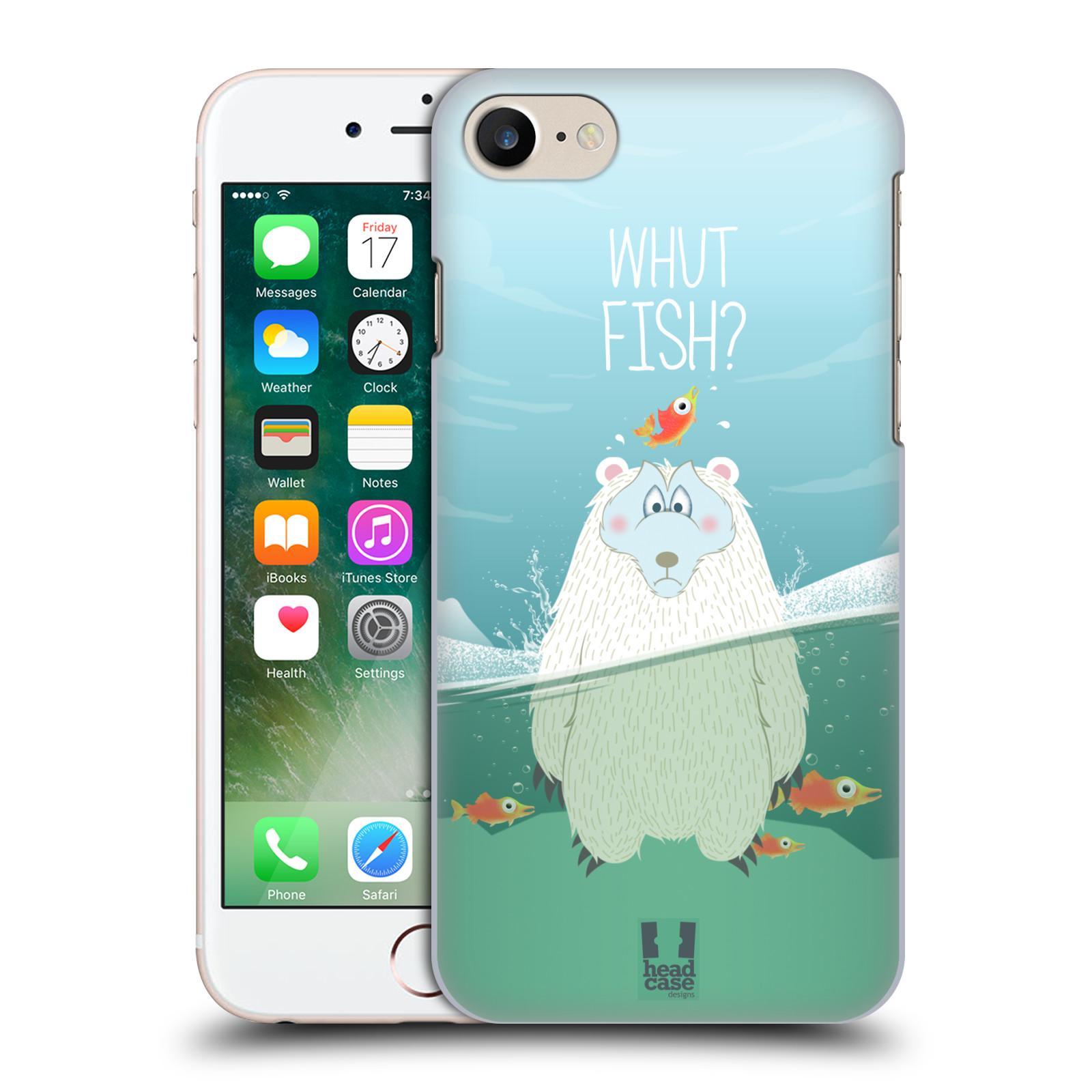 Plastové pouzdro na mobil Apple iPhone 7 HEAD CASE Medvěd Whut Fish?