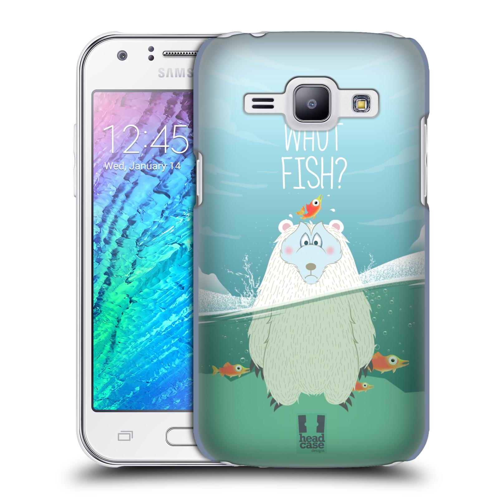 Plastové pouzdro na mobil Samsung Galaxy J1 HEAD CASE Medvěd Whut Fish? (Kryt či obal na mobilní telefon Samsung Galaxy J1 a J1 Duos )