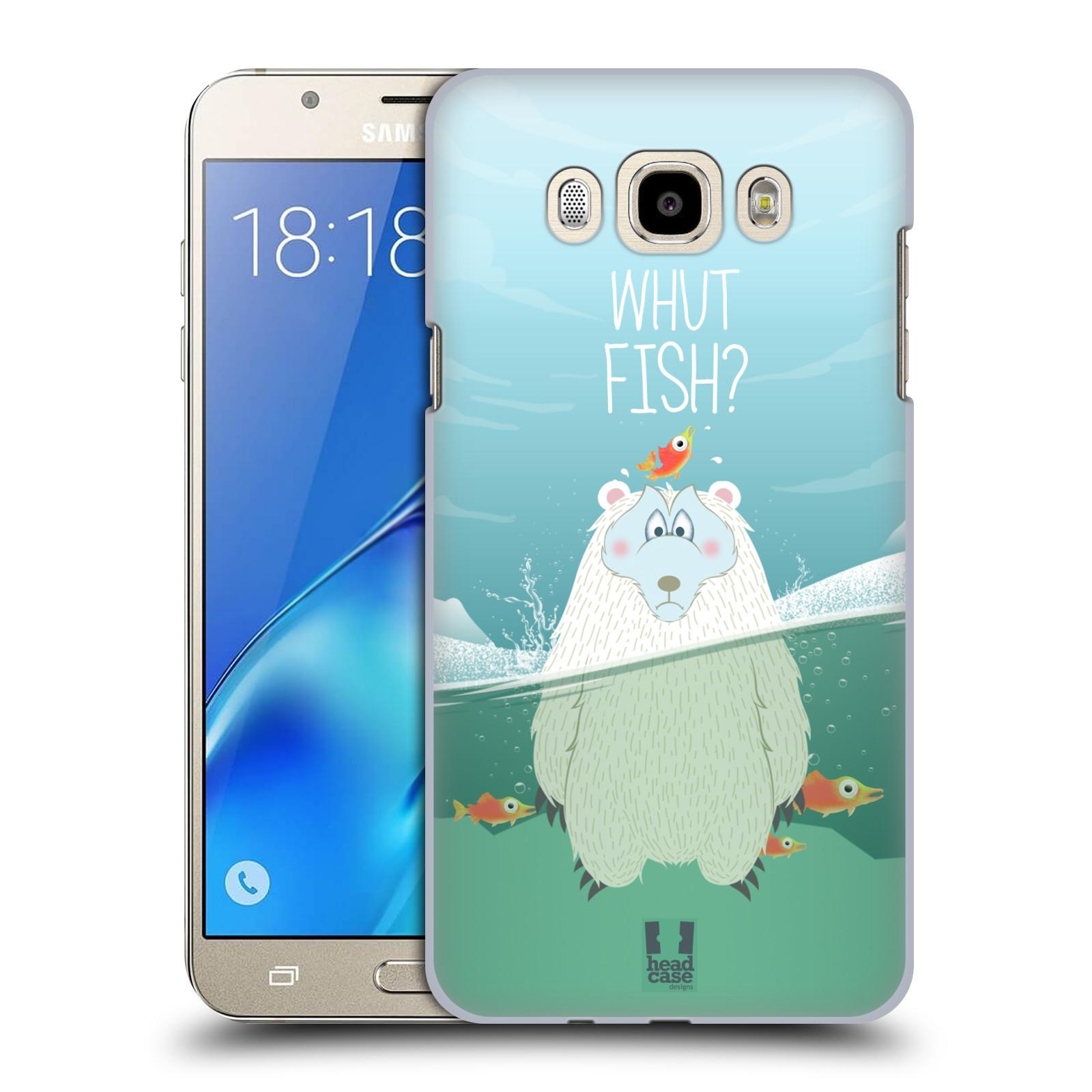 Plastové pouzdro na mobil Samsung Galaxy J7 (2016) HEAD CASE Medvěd Whut Fish?