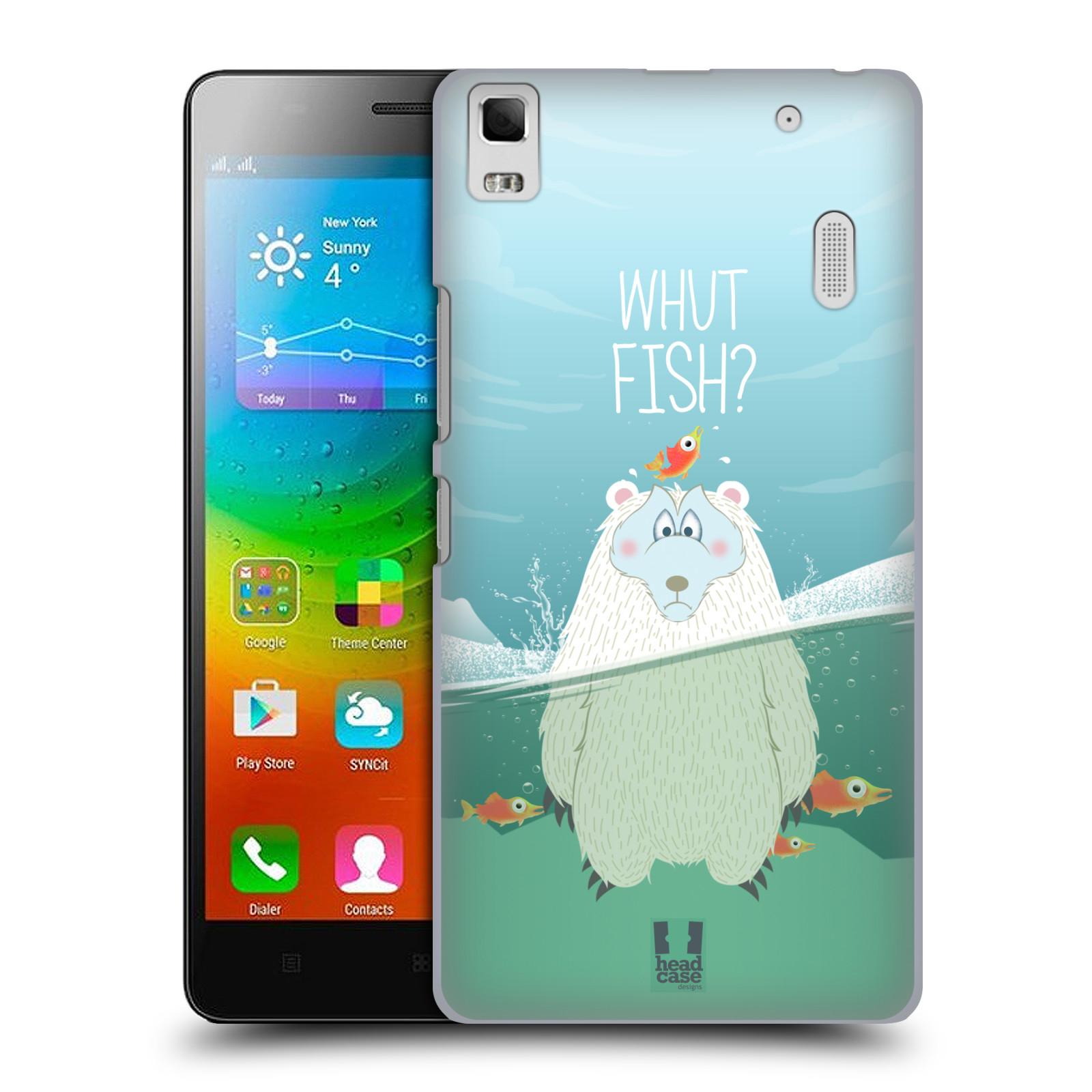 Plastové pouzdro na mobil Lenovo A7000 HEAD CASE Medvěd Whut Fish?