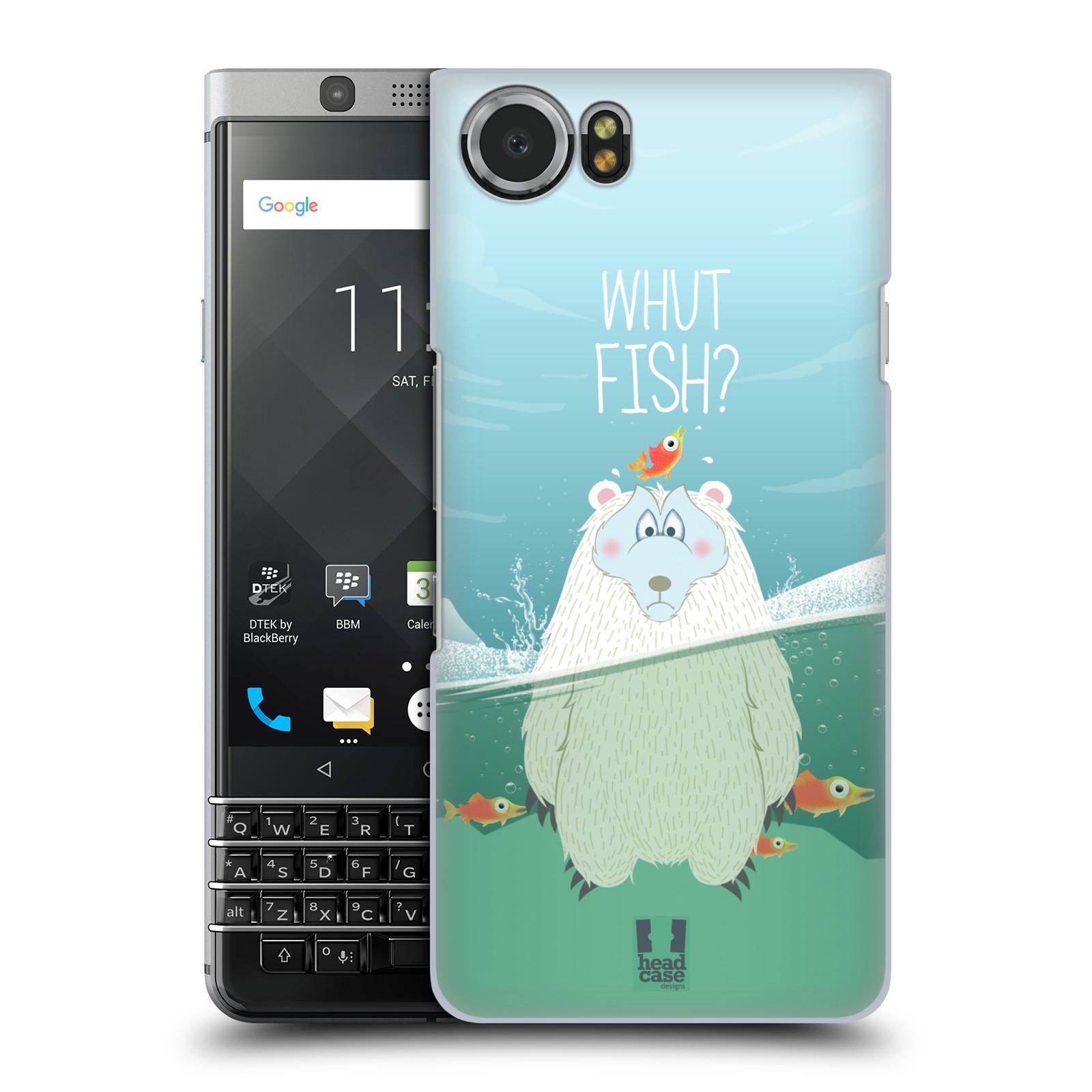 Plastové pouzdro na mobil BlackBerry KEYone - Head Case - Medvěd Whut Fish?