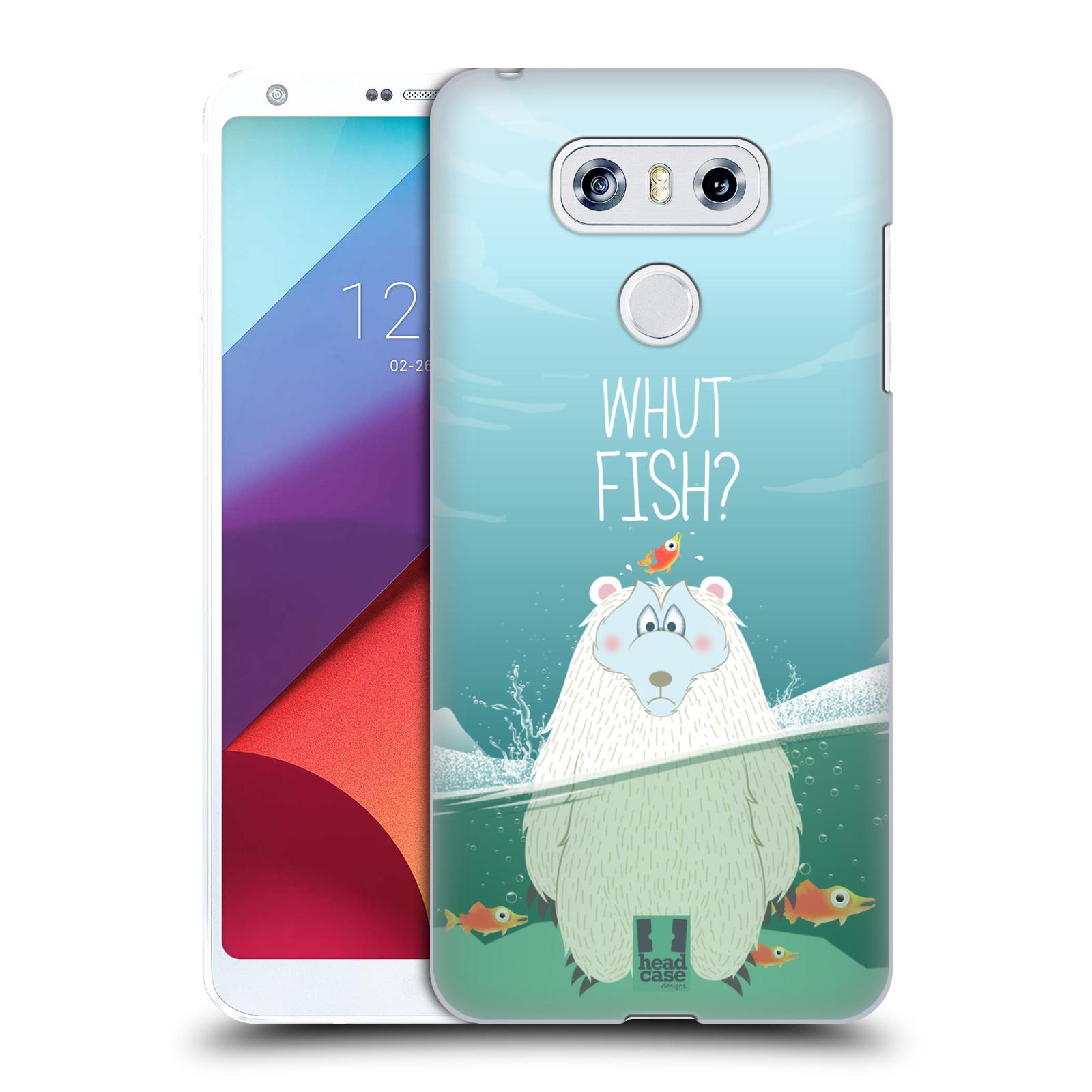 Plastové pouzdro na mobil LG G6 - Head Case Medvěd Whut Fish?