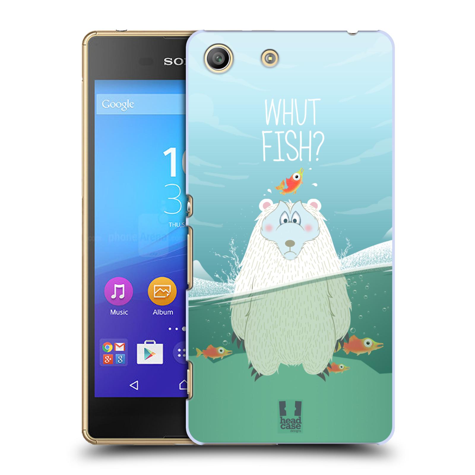 Plastové pouzdro na mobil Sony Xperia M5 HEAD CASE Medvěd Whut Fish?