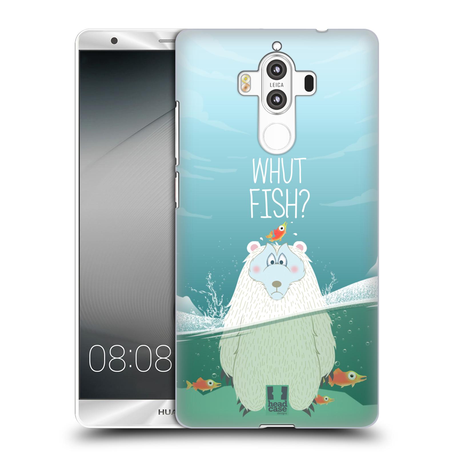 Plastové pouzdro na mobil Huawei Mate 9 - Head Case Medvěd Whut Fish?