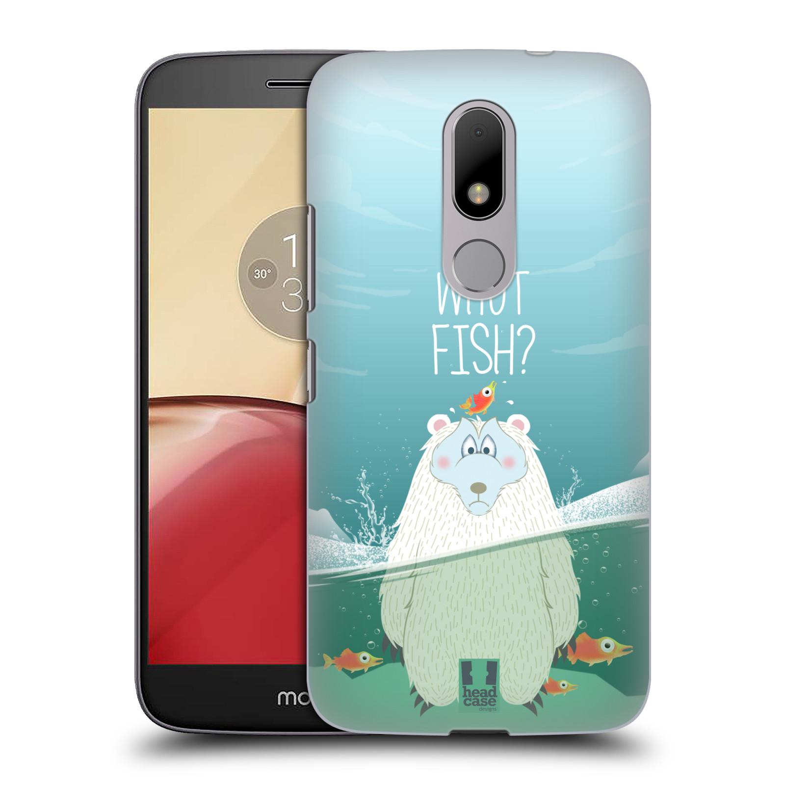 Plastové pouzdro na mobil Lenovo Moto M HEAD CASE Medvěd Whut Fish?