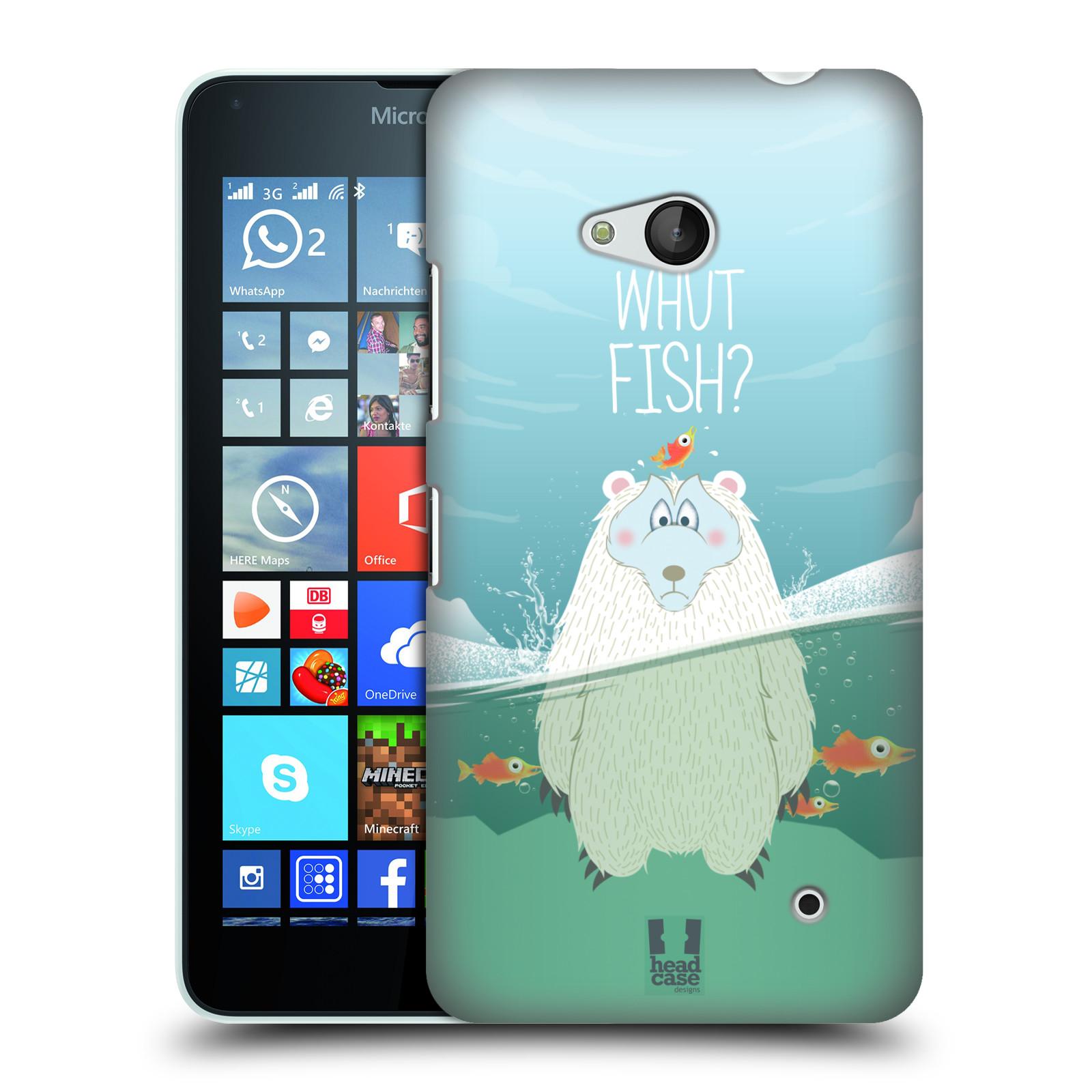 Plastové pouzdro na mobil Microsoft Lumia 640 HEAD CASE Medvěd Whut Fish?
