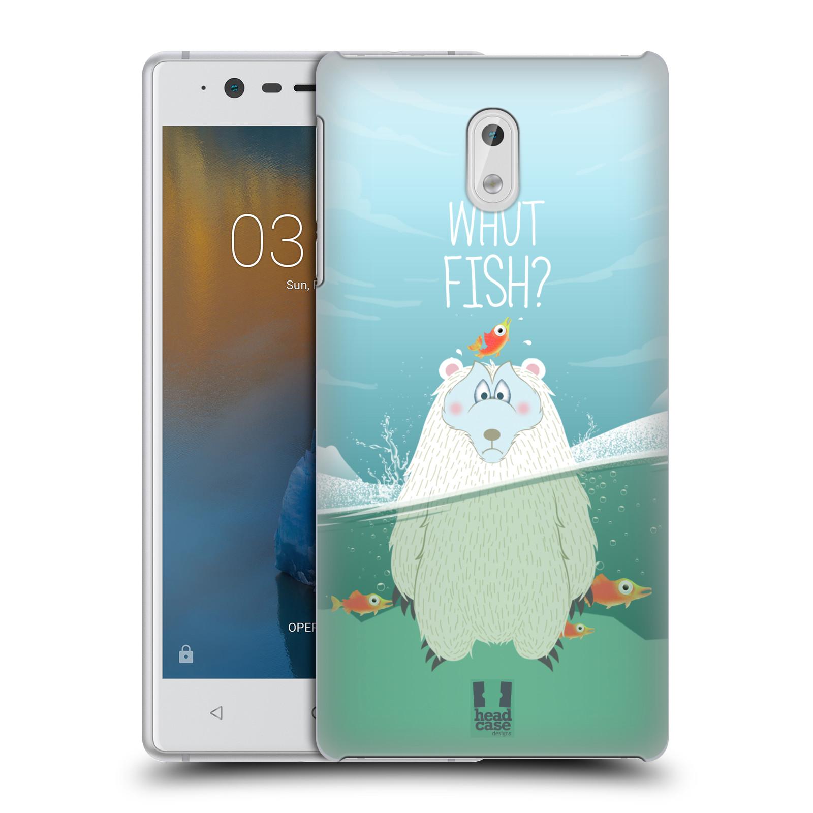 Plastové pouzdro na mobil Nokia 3 Head Case - Medvěd Whut Fish?