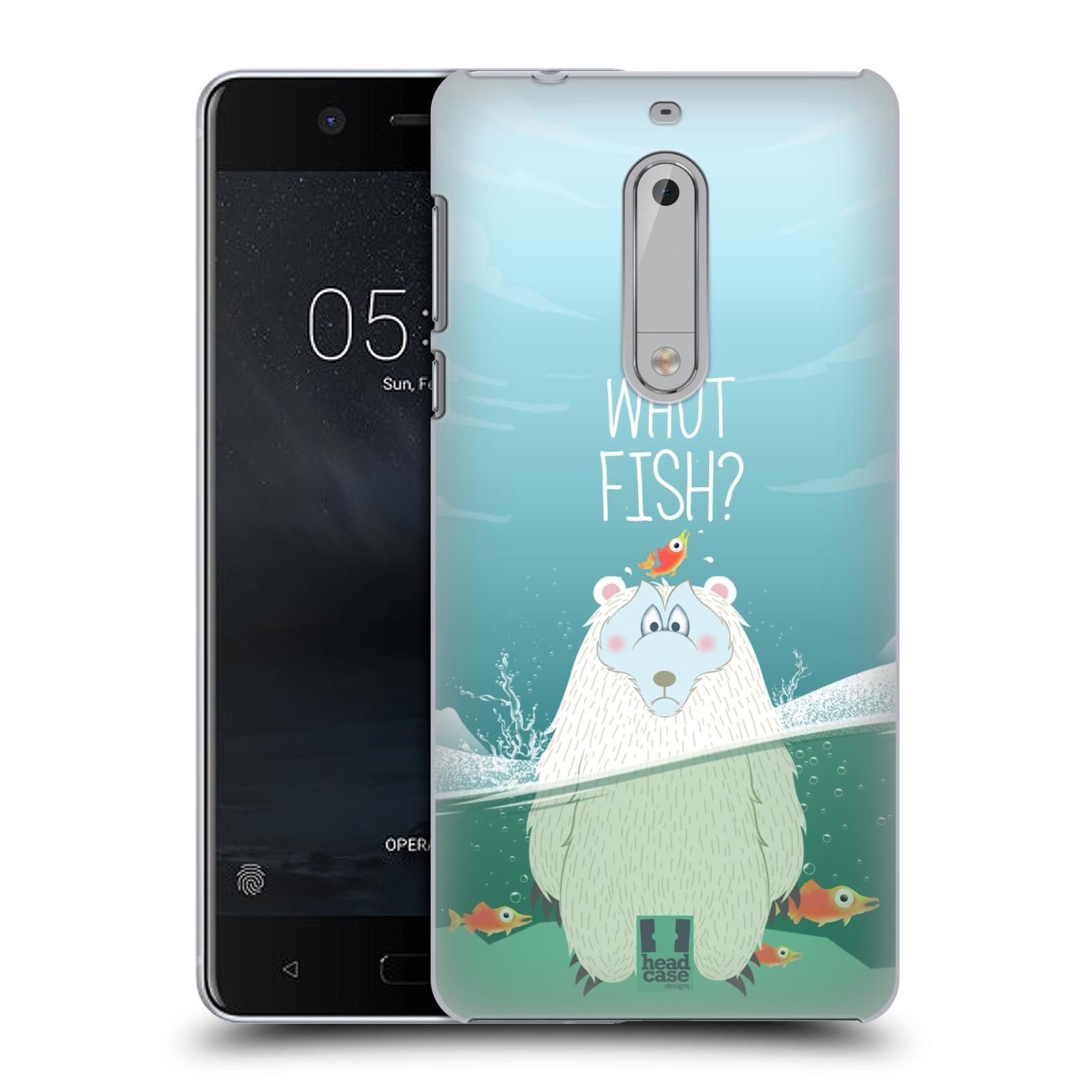 Plastové pouzdro na mobil Nokia 5 Head Case - Medvěd Whut Fish?