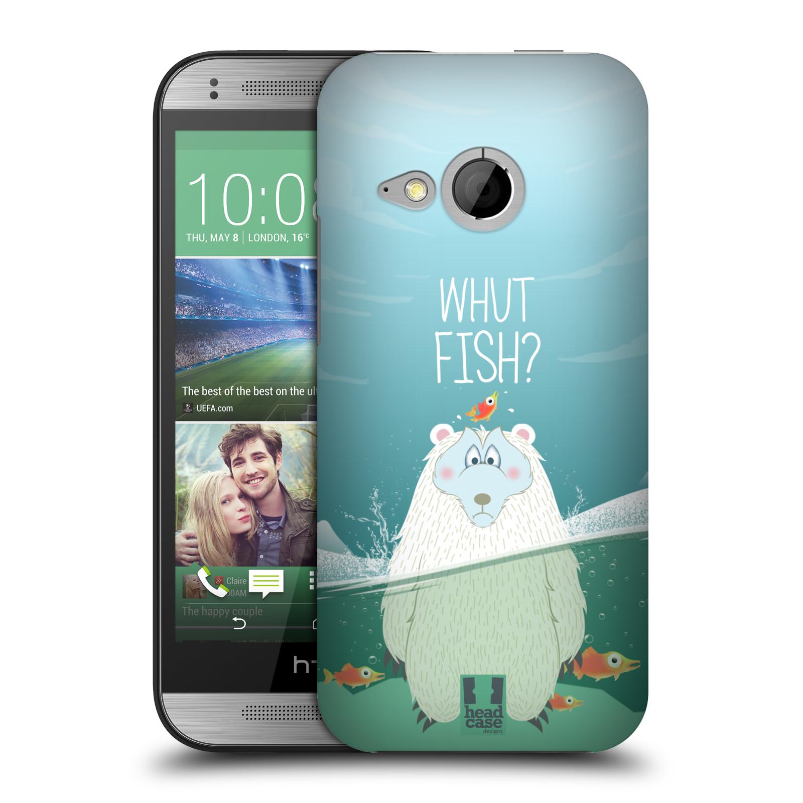 Plastové pouzdro na mobil HTC ONE Mini 2 HEAD CASE Medvěd Whut Fish? (Kryt či obal na mobilní telefon HTC ONE Mini 2)