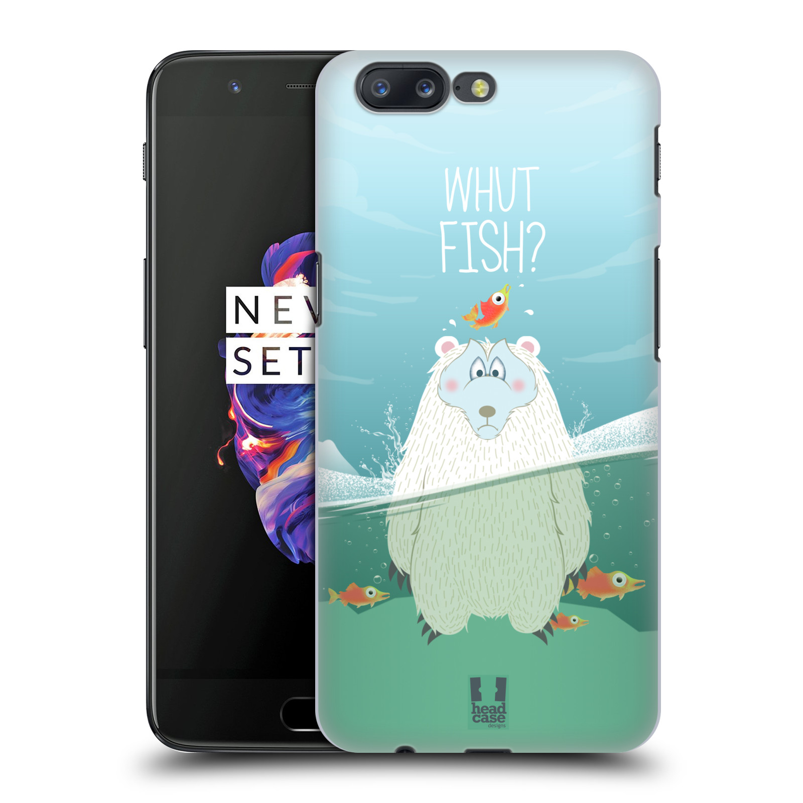 Plastové pouzdro na mobil OnePlus 5 - Head Case - Medvěd Whut Fish?